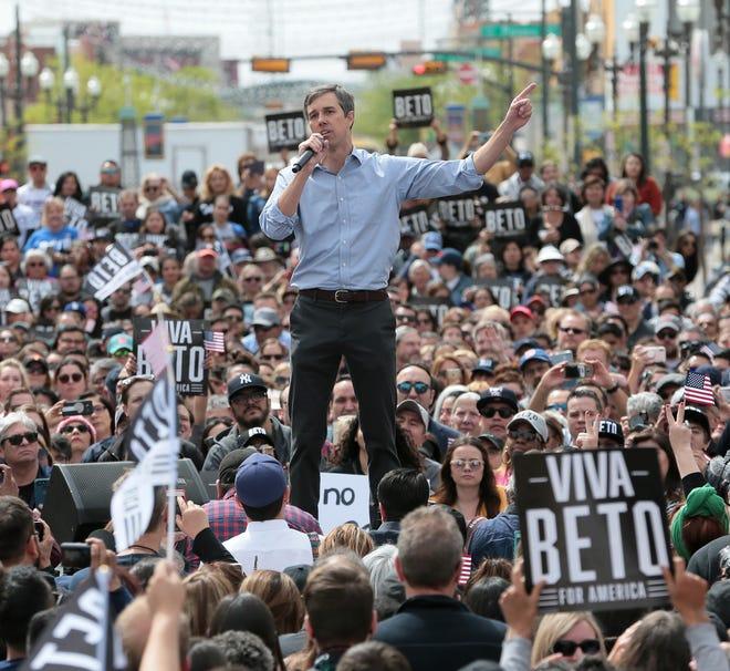 El Pasoan Beto O'Rourke officially kicked off his presidential campaign on El Paso Street in downtown El Paso.