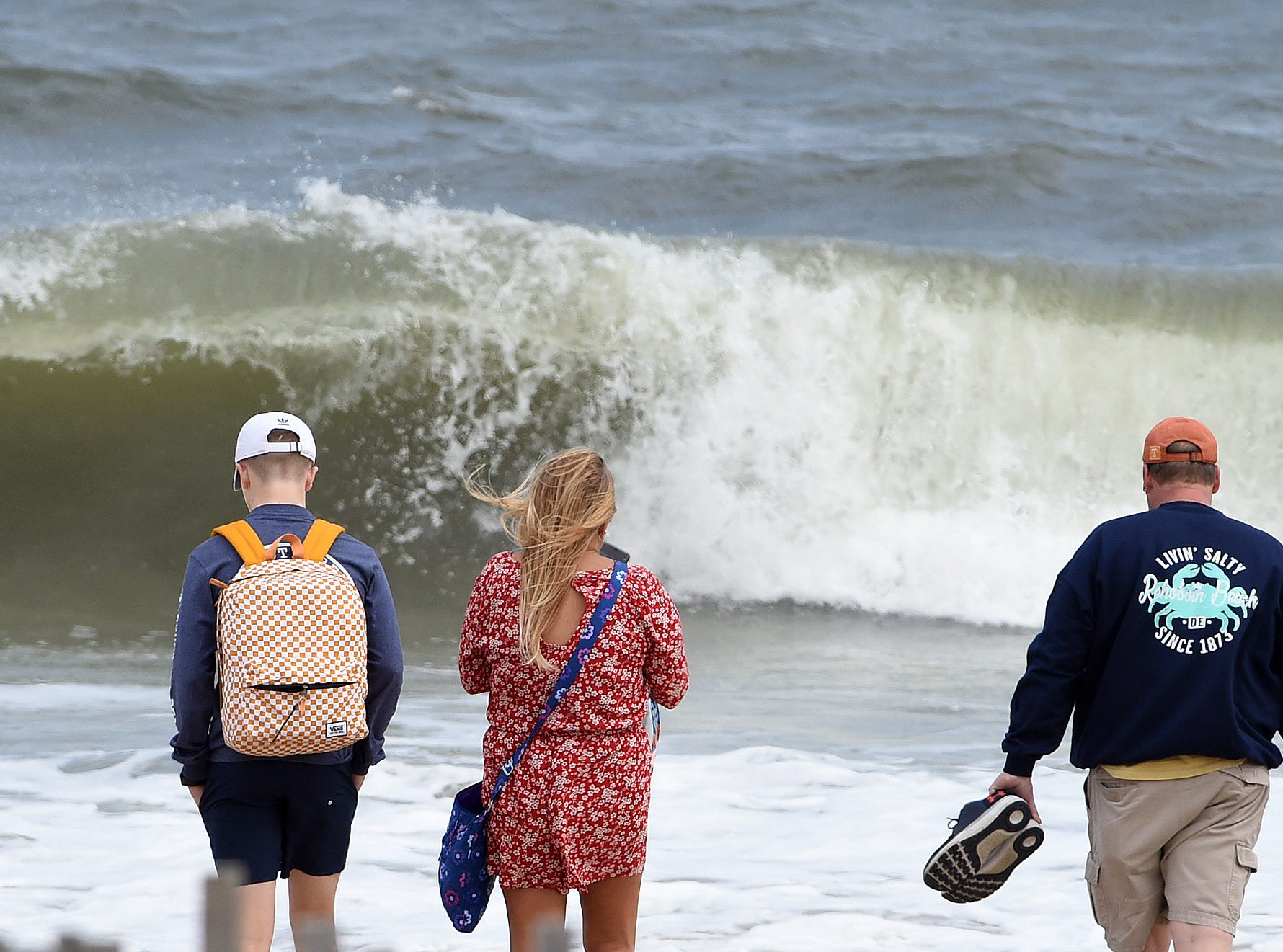 Nice, albeit chilly, weather brought out the beach fans and traffic in Rehoboth on Saturday. Visitors walked the boardwalk and beach and enjoyed ice cream and french fries.
