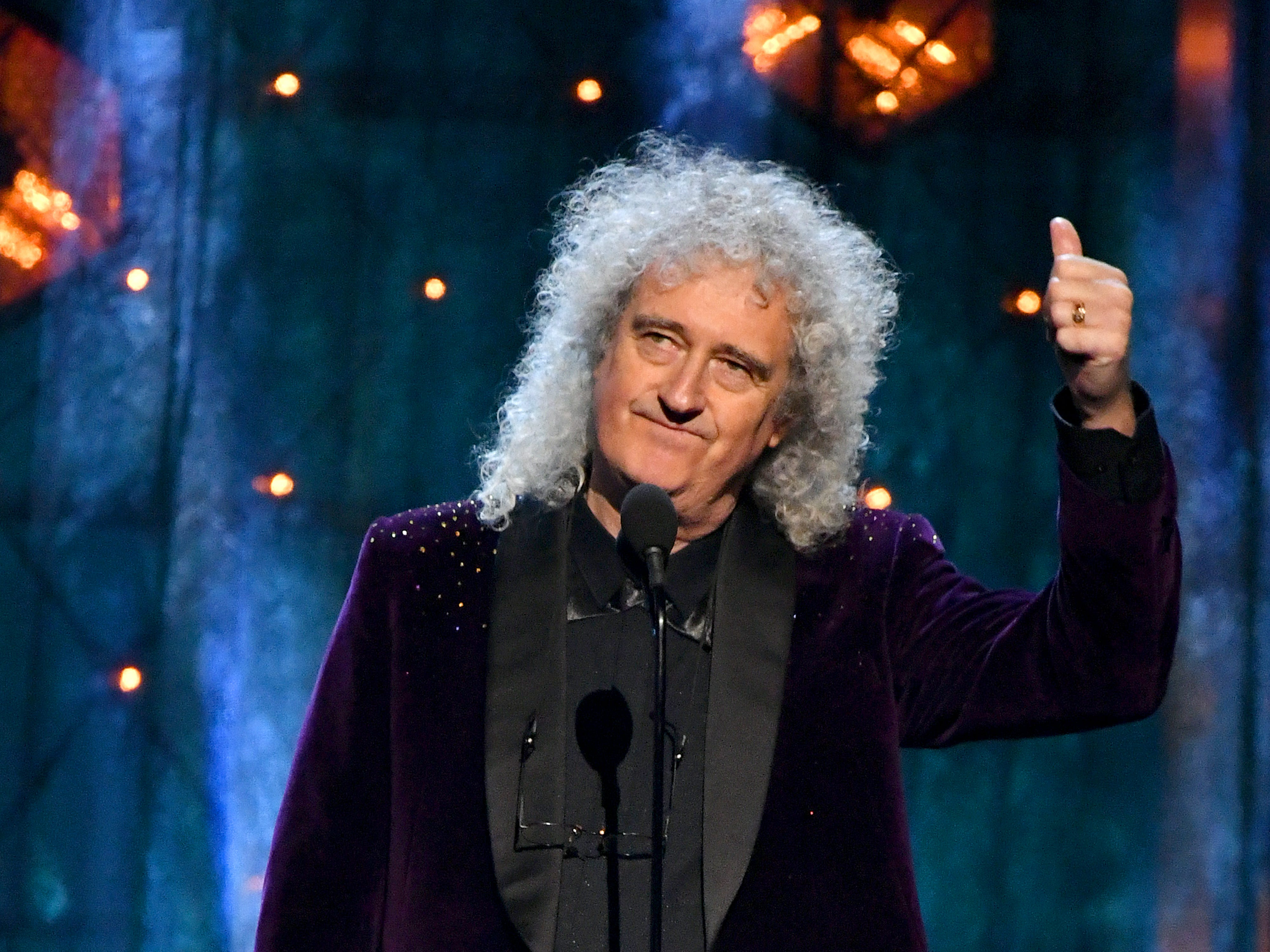 Queen's Brian May shares stories about old friends Def Leppard, inducted into the Rock Hall this year.