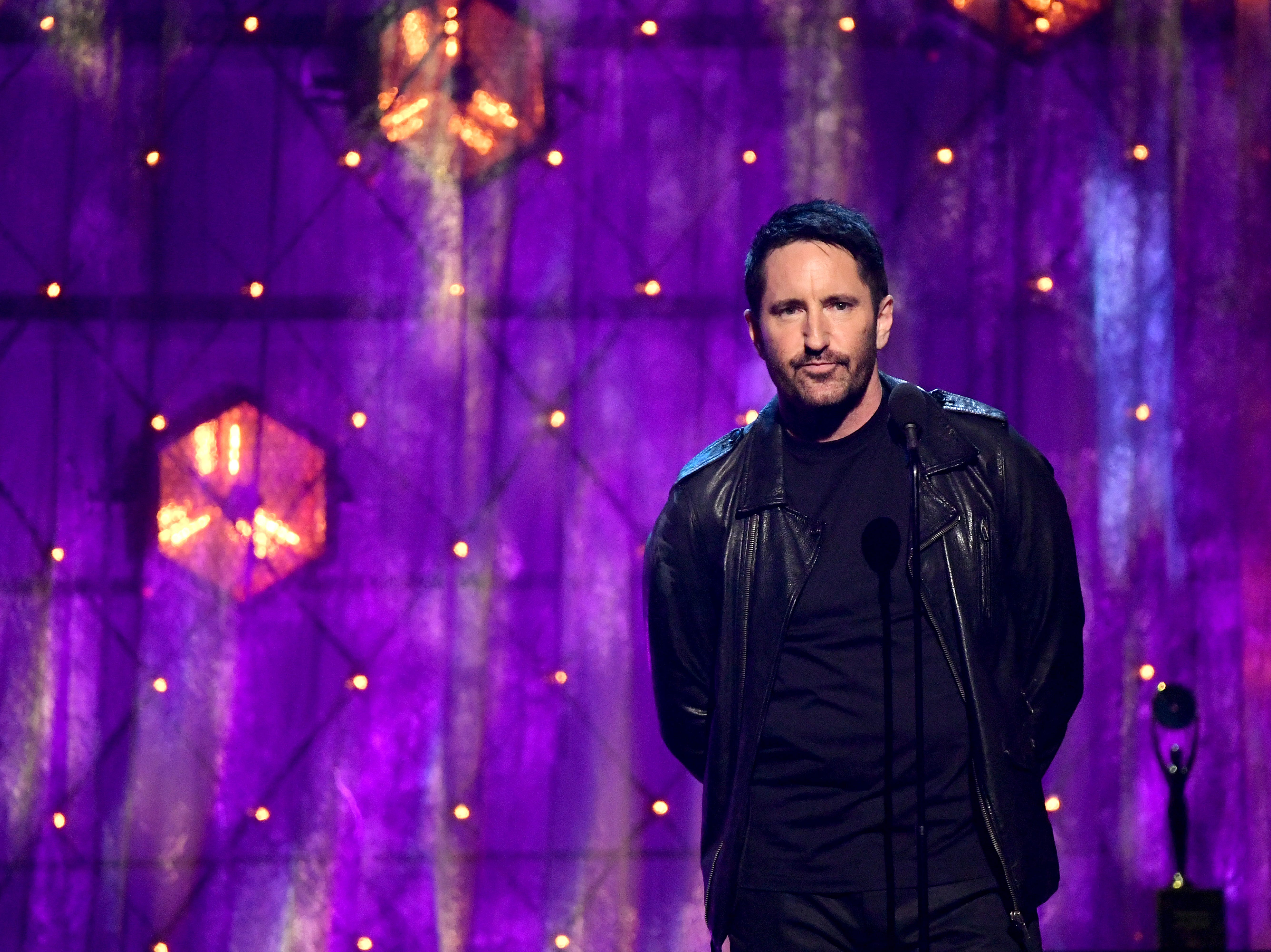 Nine Inch Nails frontman Trent Reznor introduces The Cure.
