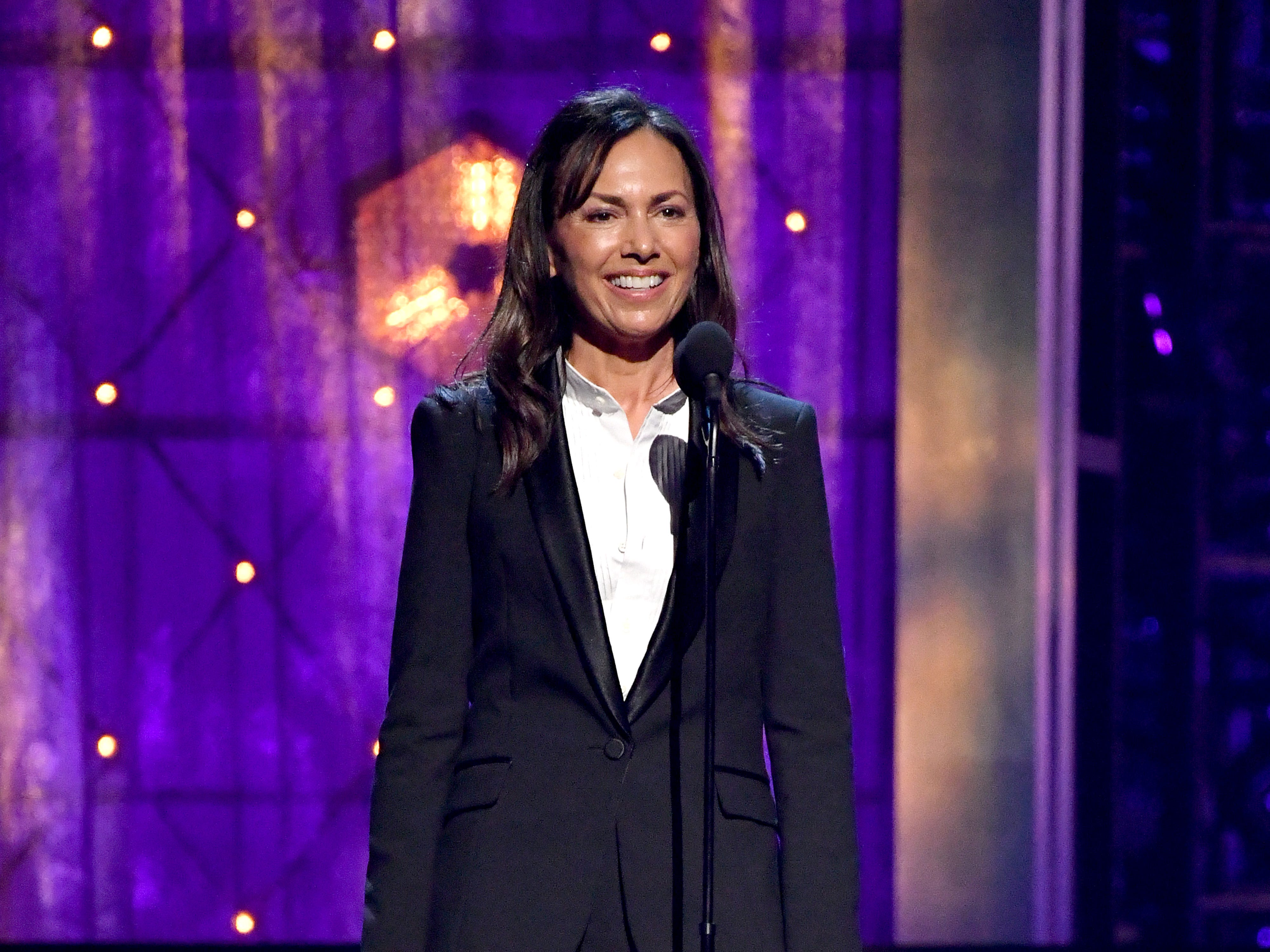 NEW YORK, NEW YORK - MARCH 29: The Bangles Susanna Hoffs speaks onstage during the 2019 Rock & Roll Hall Of Fame Induction Ceremony - Show at Barclays Center on March 29, 2019 in New York City. (Photo by Mike Coppola/WireImage) ORG XMIT: 775320663 ORIG FILE ID: 1139196541
