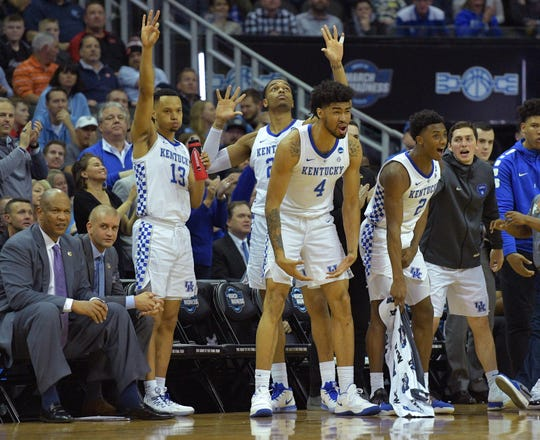 Kentucky is headed to the NCAA Elite Eight.