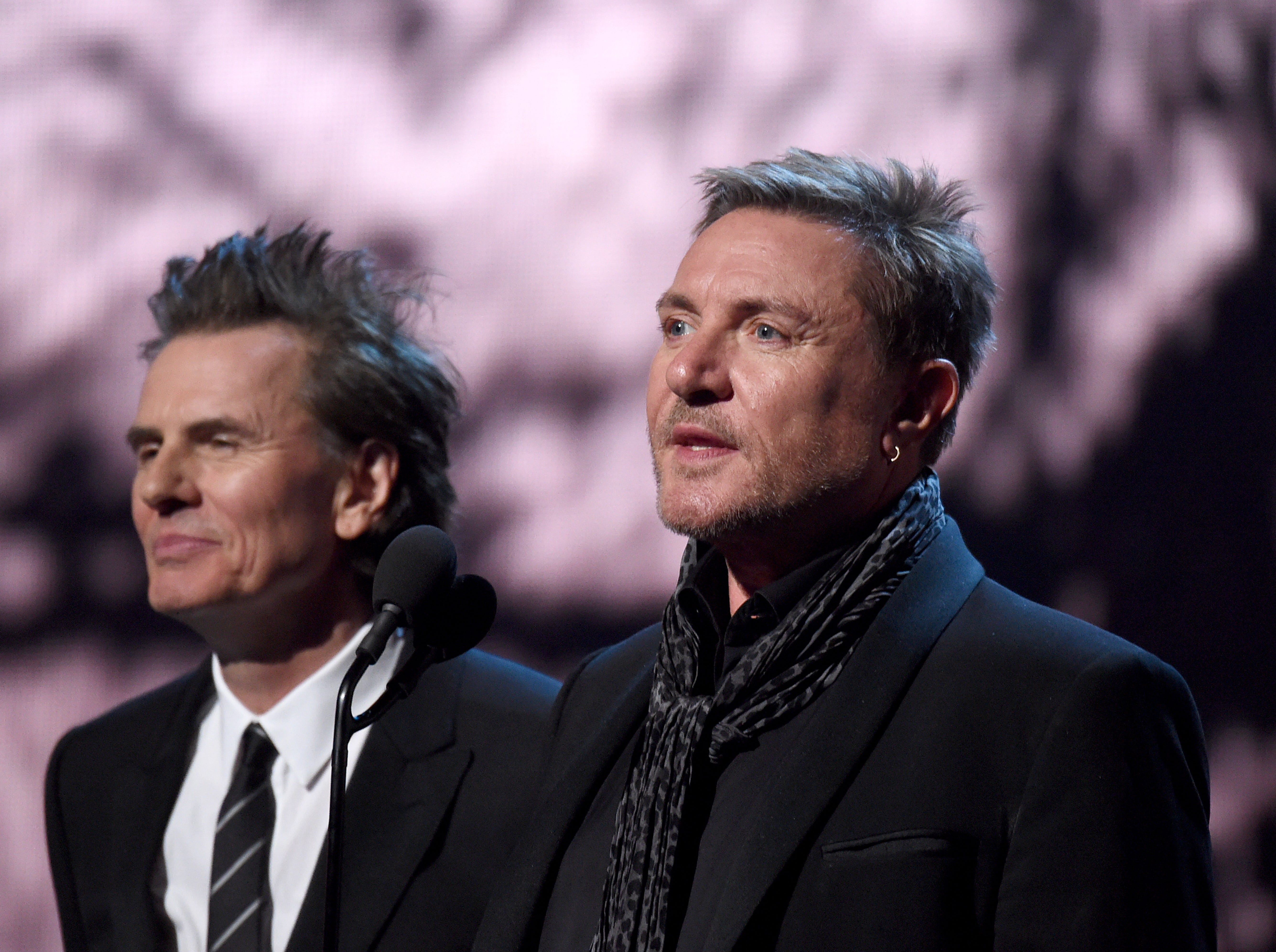 Duran Duran's John Taylor, left, and Simon Le Bon introduce Roxy Music.