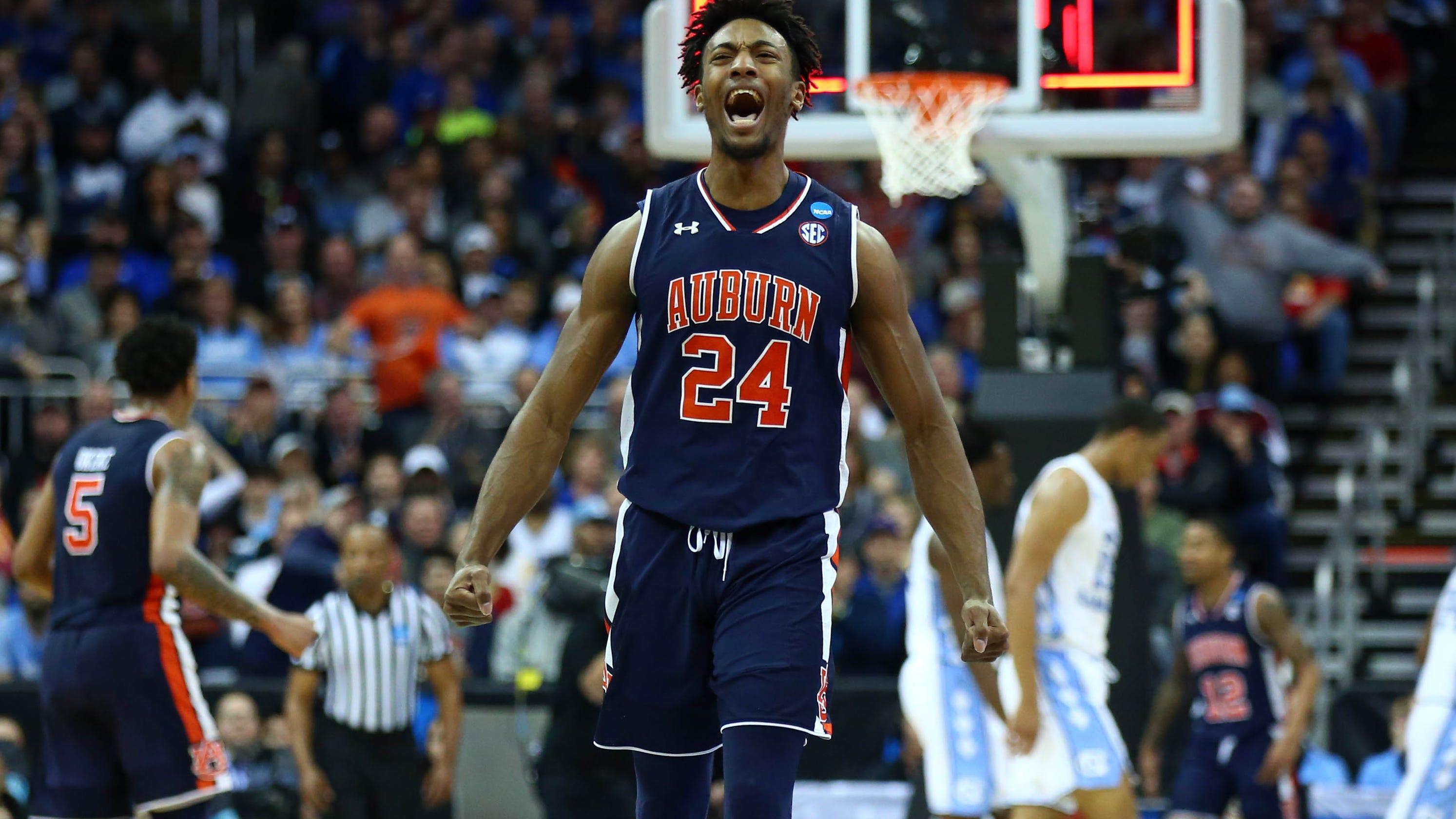 March Madness: Auburn knocks off top seed North Carolina ...
