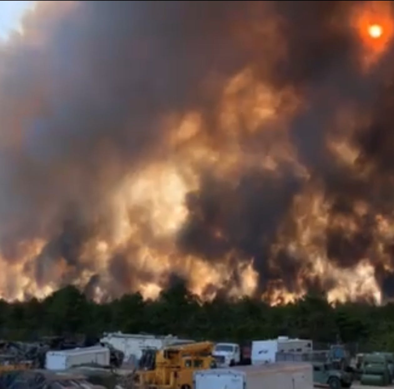 Route 72 closed in Barnegat due to major forest fire in Pine Barrens