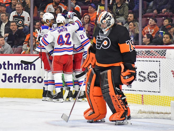 Carter Hart's job next season is safe even though he allowed three goals in Sunday's shutout loss to the Rangers. His teammates may have reason to worry, though.