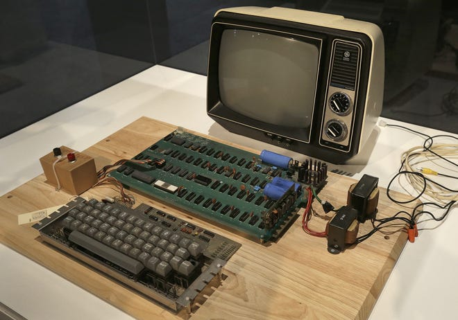 An Apple 1 computer designed and sold by Steve Jobs and Steve Wozniak in 1976 was the humble beginning of the Apple, Inc. empire.