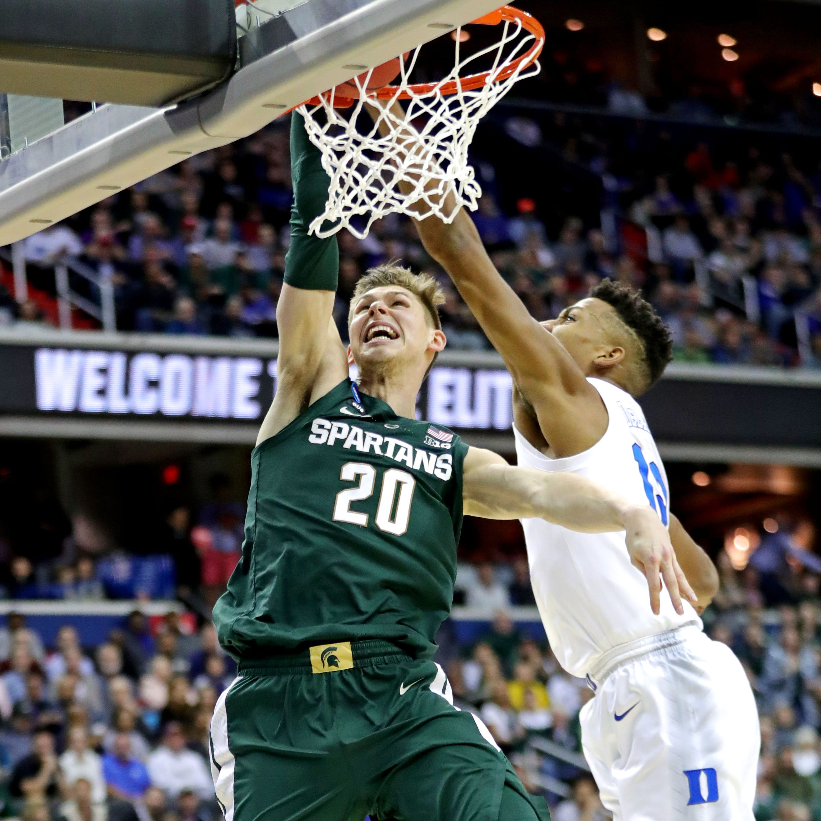 Michigan State's Matt McQuaid dunked on Duke and fans lost their minds