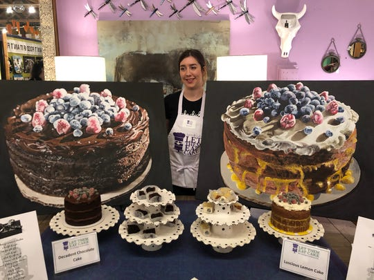 Zoey Werme of Saugatuck not only baked two cakes for Leon & Lulu's Let Them Eat Cake baking compeition, but also painted impressive pictures of them.