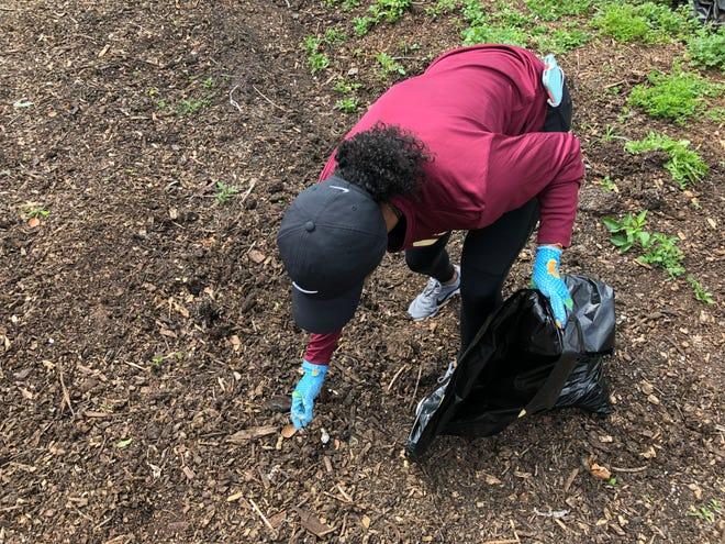 Students tackled activities like gardening and mulching among other tasks.
