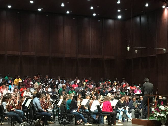 """Saturday's rehearsal was open for the public to witness Thompson's piece, George Walker's """"Lyric for Strings"""" and Beethoven's """"Symphony No. 9."""""""