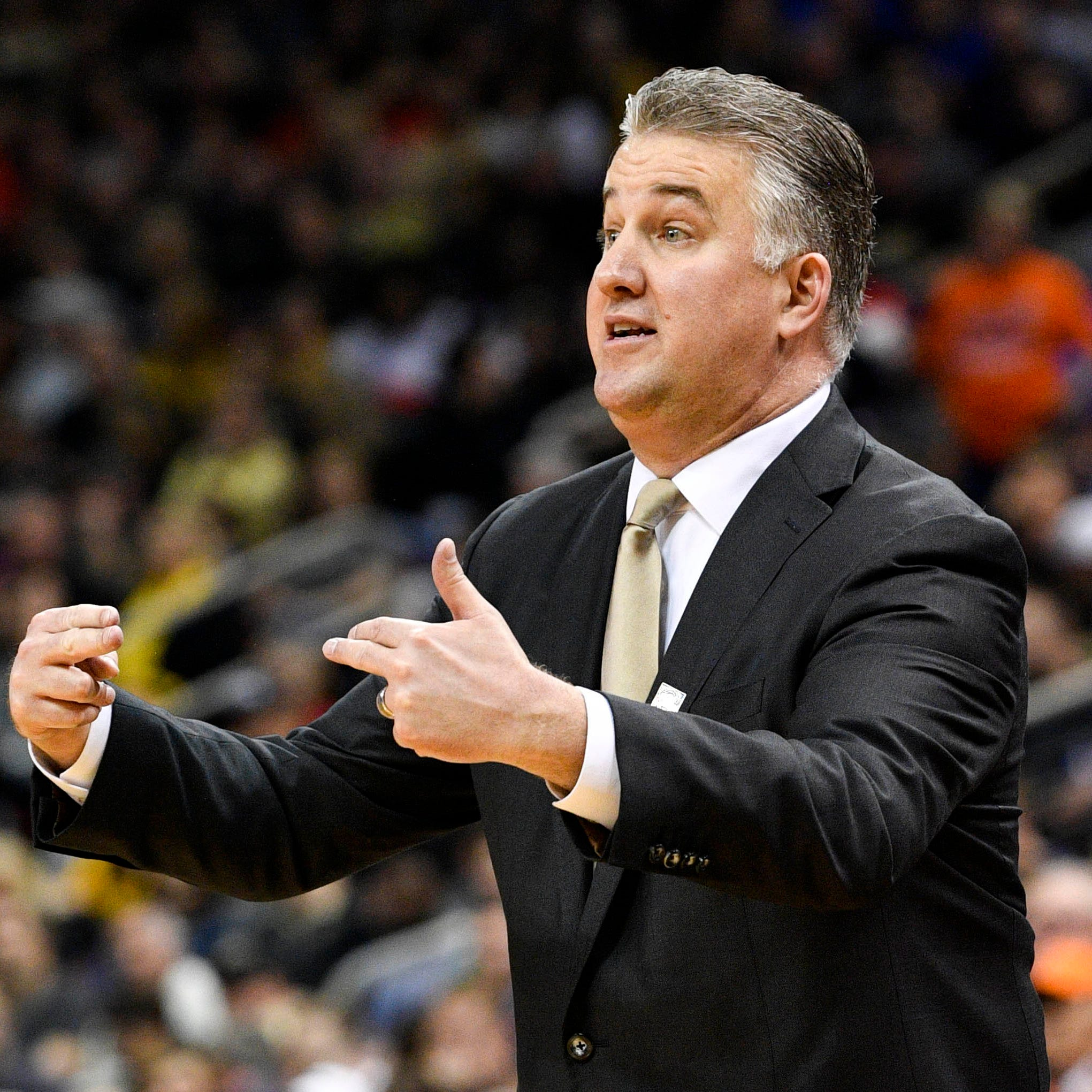 Purdue basketball coach Matt Painter can't watch the Virginia shot alone