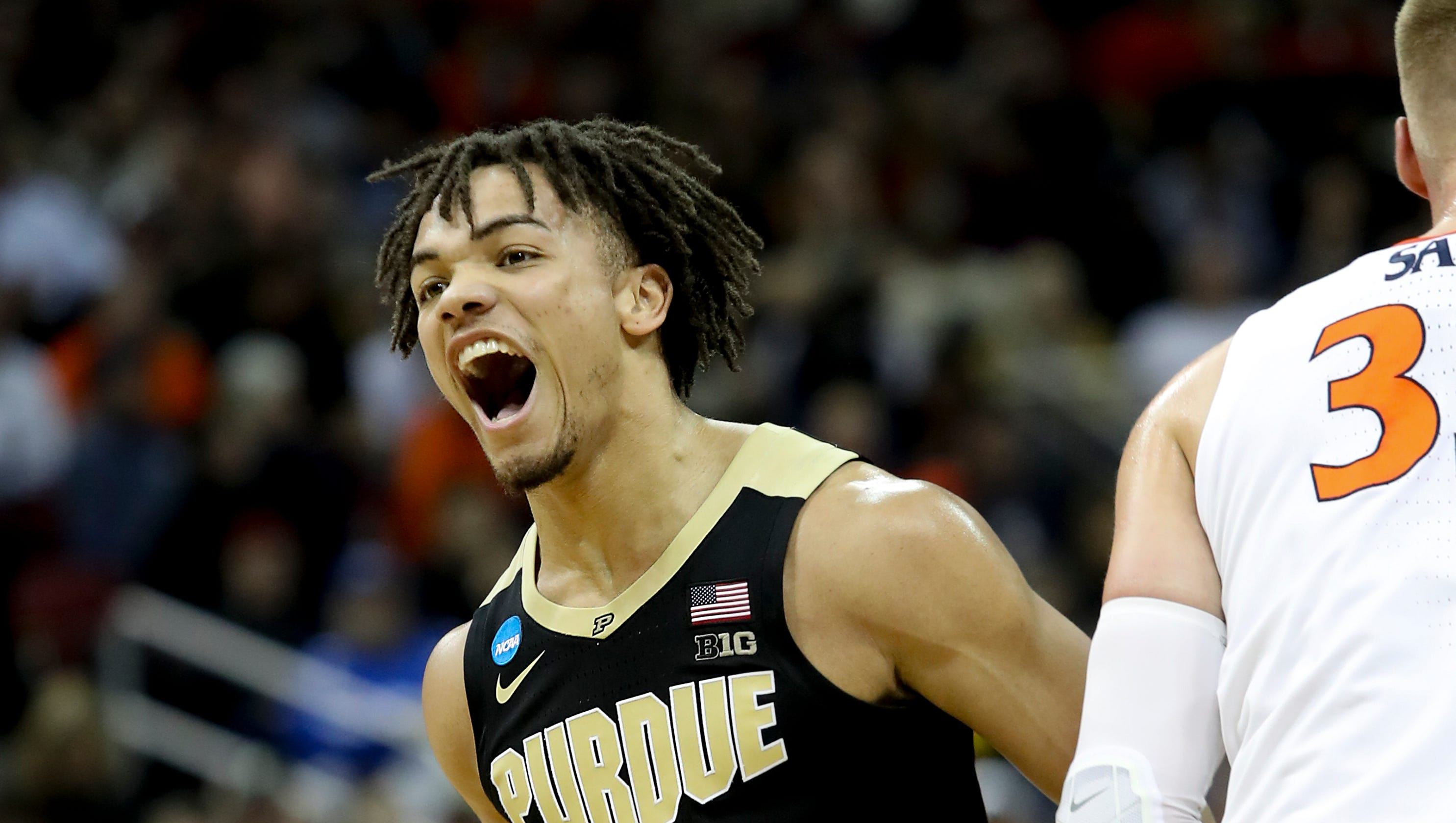 March Madness Purdue S Carsen Edwards Shines Against Virginia