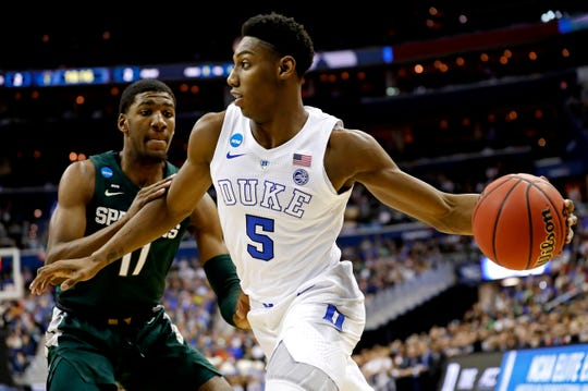 Former Duke wing RJ Barrett worked out for the New York Knicks on Monday.