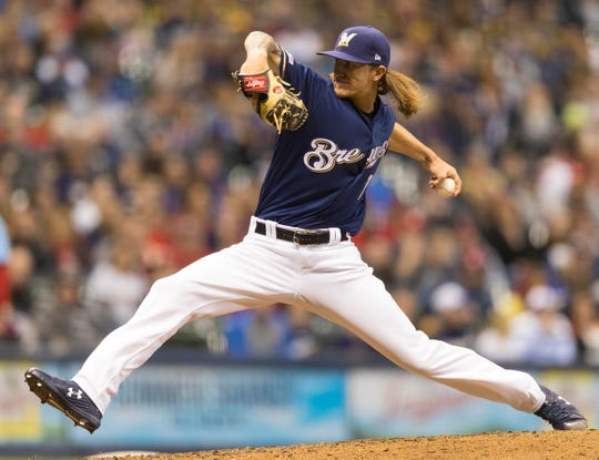 Brewers pitcher Josh Hader struck out the side on nine pitches in the ninth inning against the St. Louis Cardinals on Saturday.
