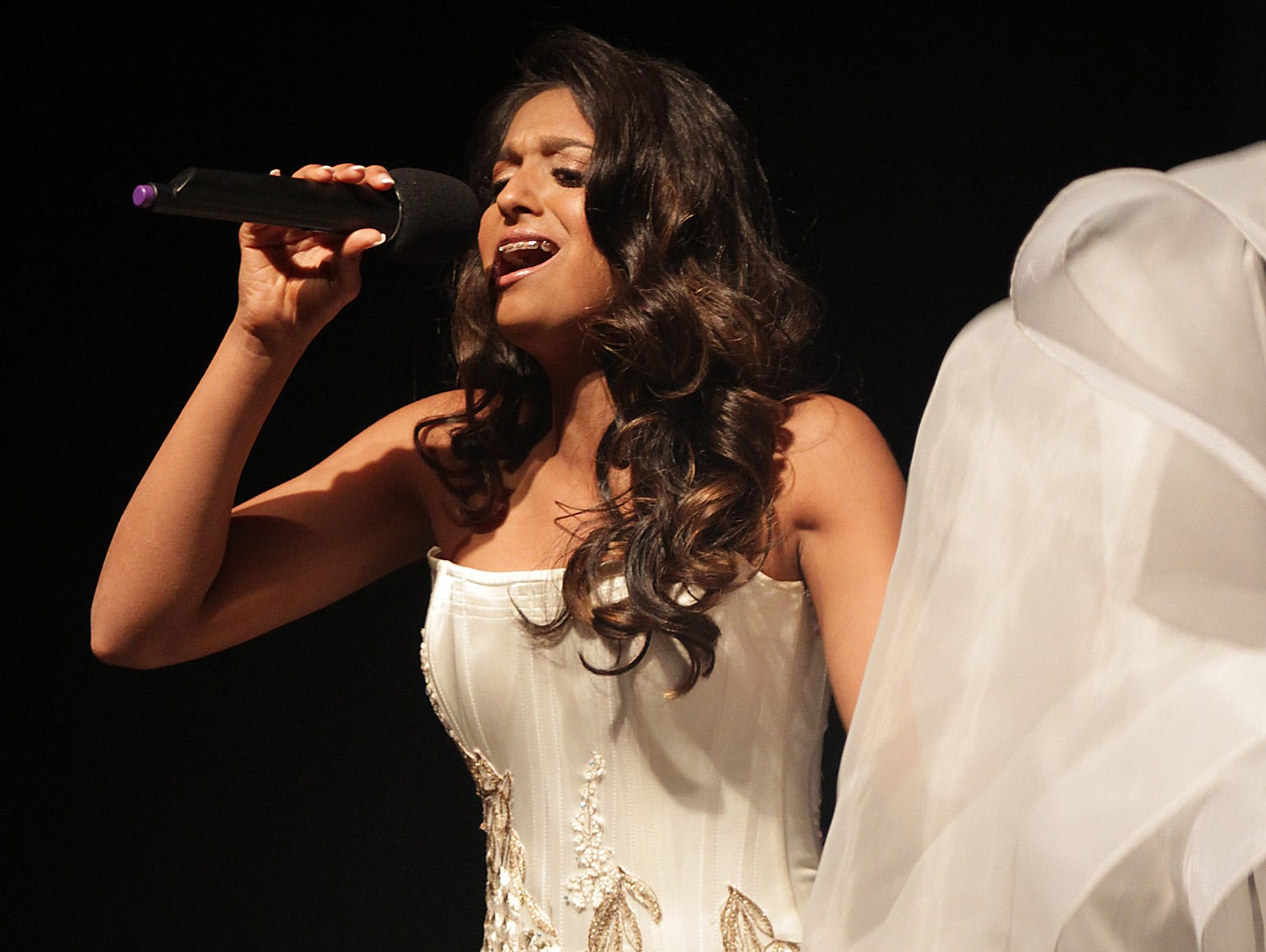 Zoeya Khan sings at the Miss Tennessee's Outstanding Teen Pageant in Gallatin, TN on Saturday, March 30, 2019.