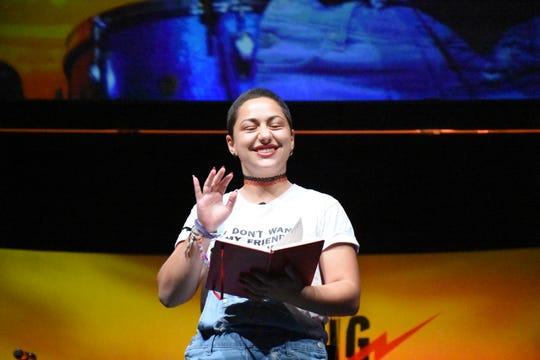 Emma Gonzalez with March for Our Lives talked common sense gun rights in the wake of the Parkland shooting Unrigged Live: at Music City Center on March 30, 2019.
