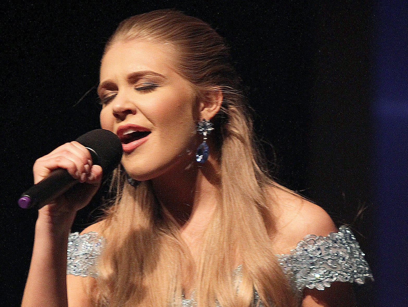 Chloe Warren sings at Miss Tennessee's Outstanding Teen Pageant in Gallatin, TN on Saturday, March 30, 2019.