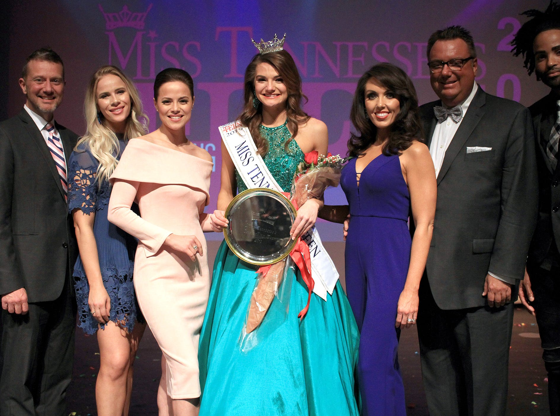 Miss Tennessee's Outstanding 2019 Teen Taylor Parsons poses with the Judges in Gallatin, TN on Saturday, March 30, 2019.