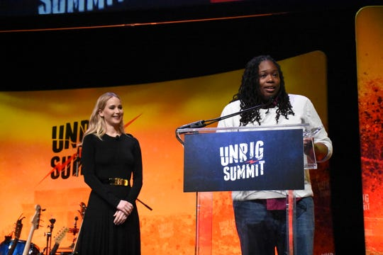 Odessa Kelly with Stand Up Nashville was awarded a Courage Award during Unrigged Live! at Music City Center on March 30, 2019.