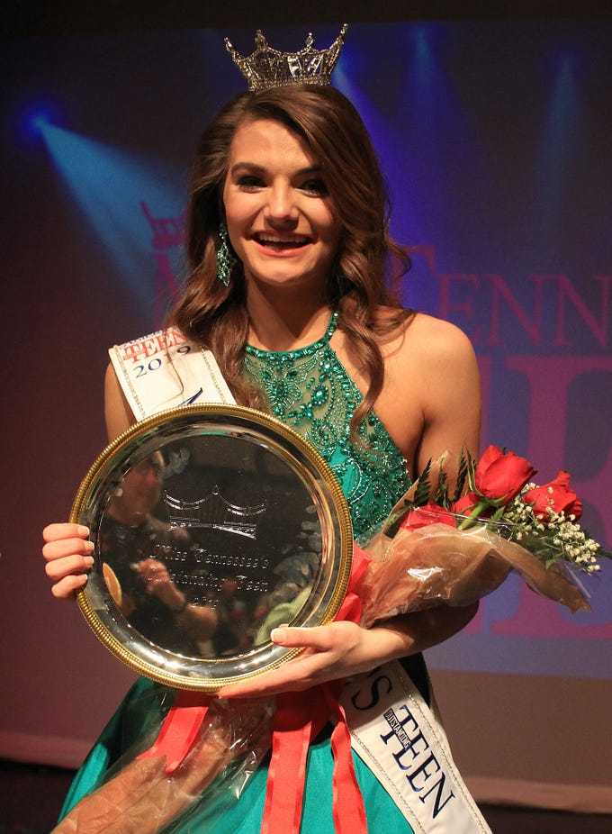 Taylor Parsons is Miss Tennessee's Outstanding Teen for 2019 on Saturday, March 20, 2019 in Gallatin, TN.