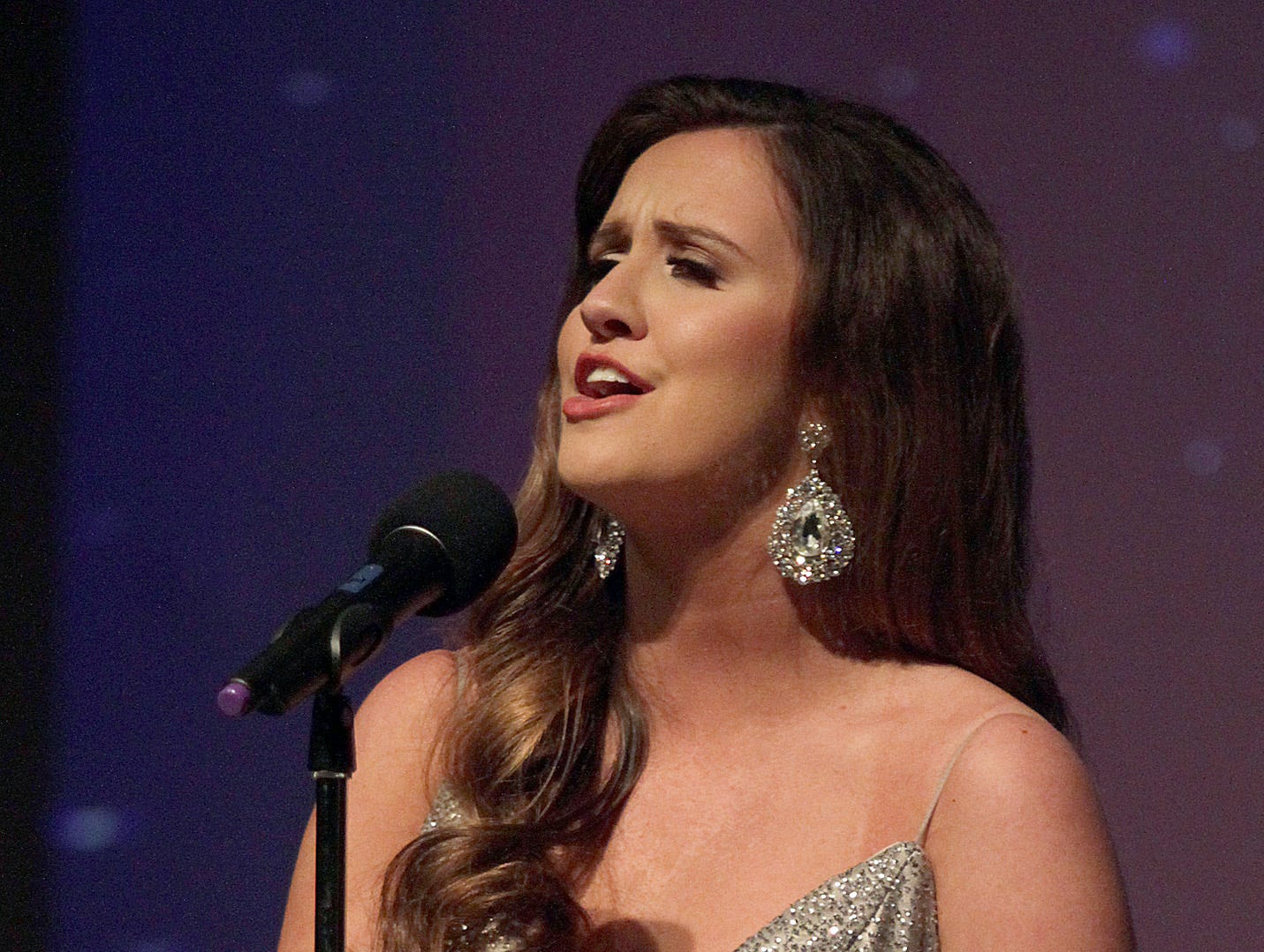 Brooklyn Tippett sings at Miss Tennessee's Outstanding Teen Pageant in Gallatin, TN on Saturday, March 30, 2019.