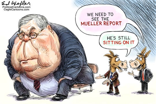 barr sits on mueller report