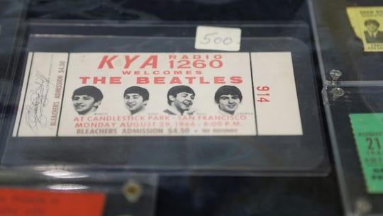 A ticket to the last Beatles concert has a sticker price of $500 at Beatlefest in Jersey City. Sunday, March 31, 2019
