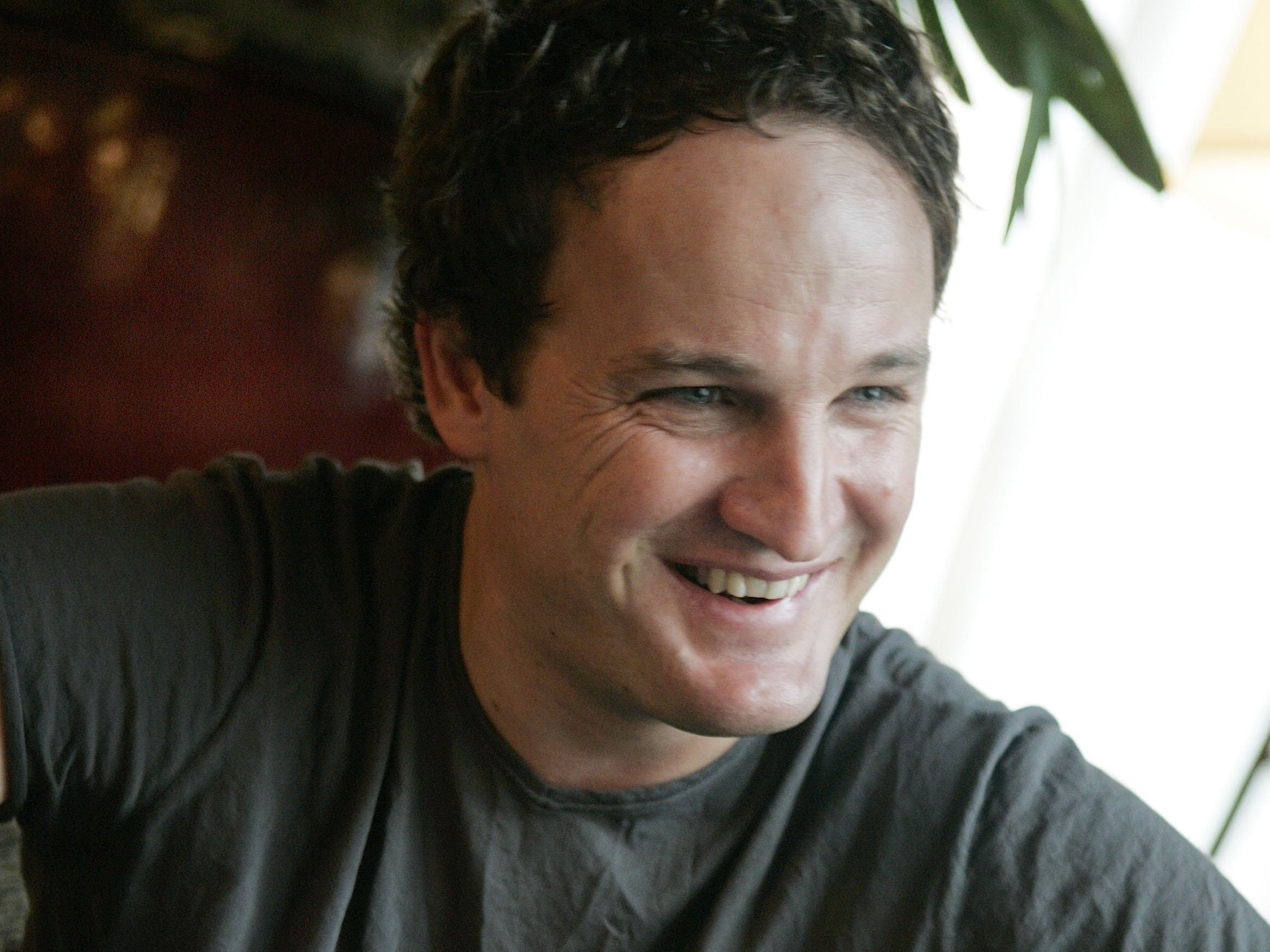 "Jason Clarke promotes ""The Brotherhood"" with an interview in New York on May 15, 2006."