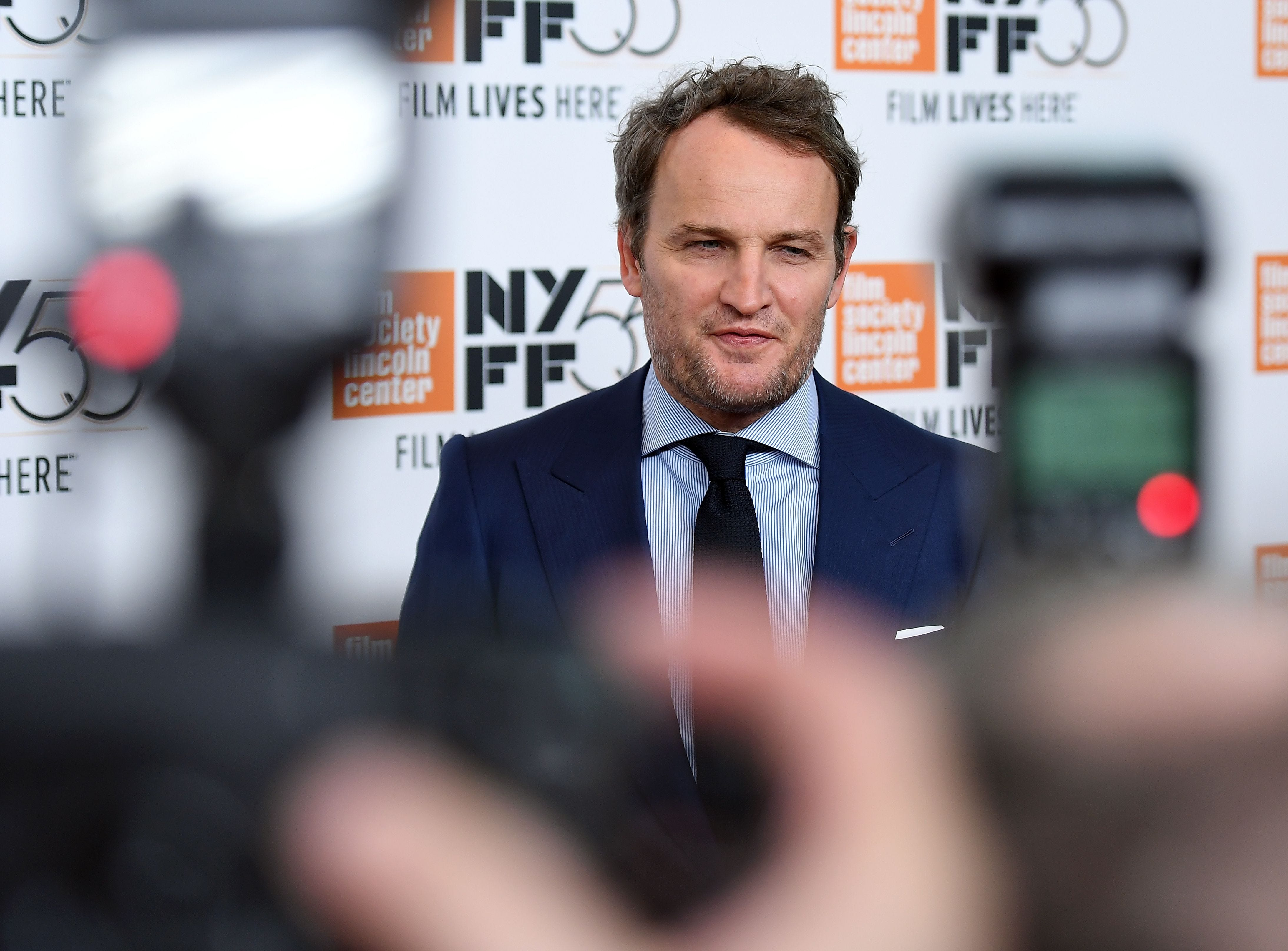 "Jason Clarke attends the ""Mudbound"" screening during the New York Film Festival on Oct. 12, 2017, in New York City."