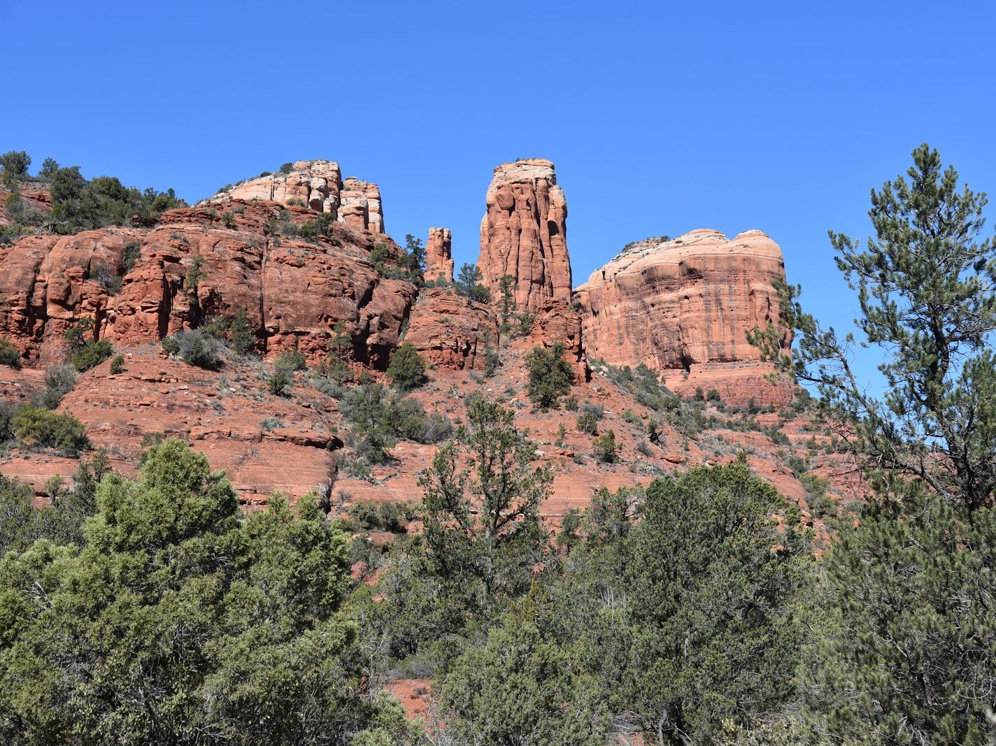 The hike shows seldom-seen angles of Cathedral Rock.
