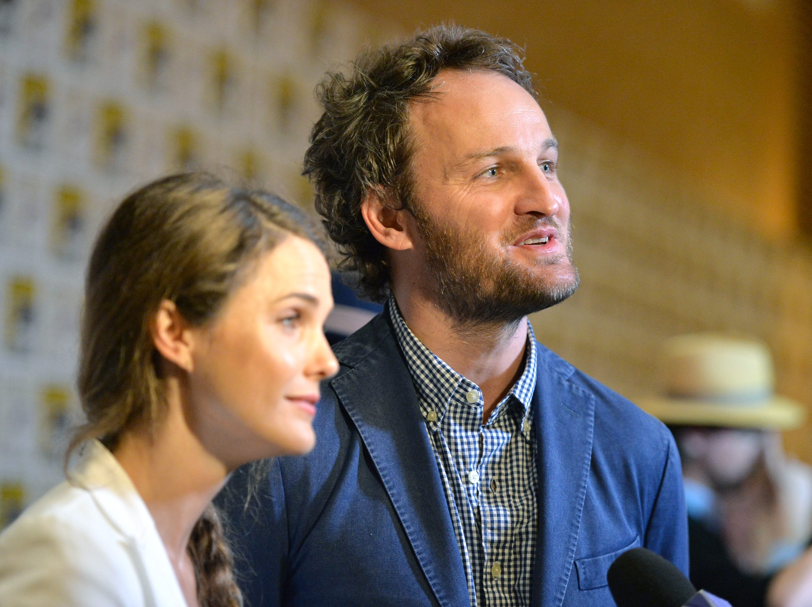 "Keri Russell and Jason Clarke promote ""Dawn Of The Planet Of The Apes"" on July 20, 2013, in San Diego."