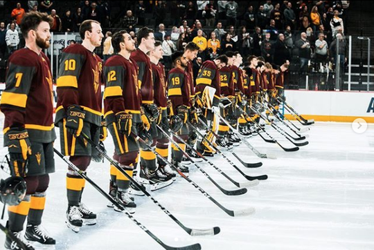 ASU Hockey takes ice for regional semifinal in 2019 NCAA tournament