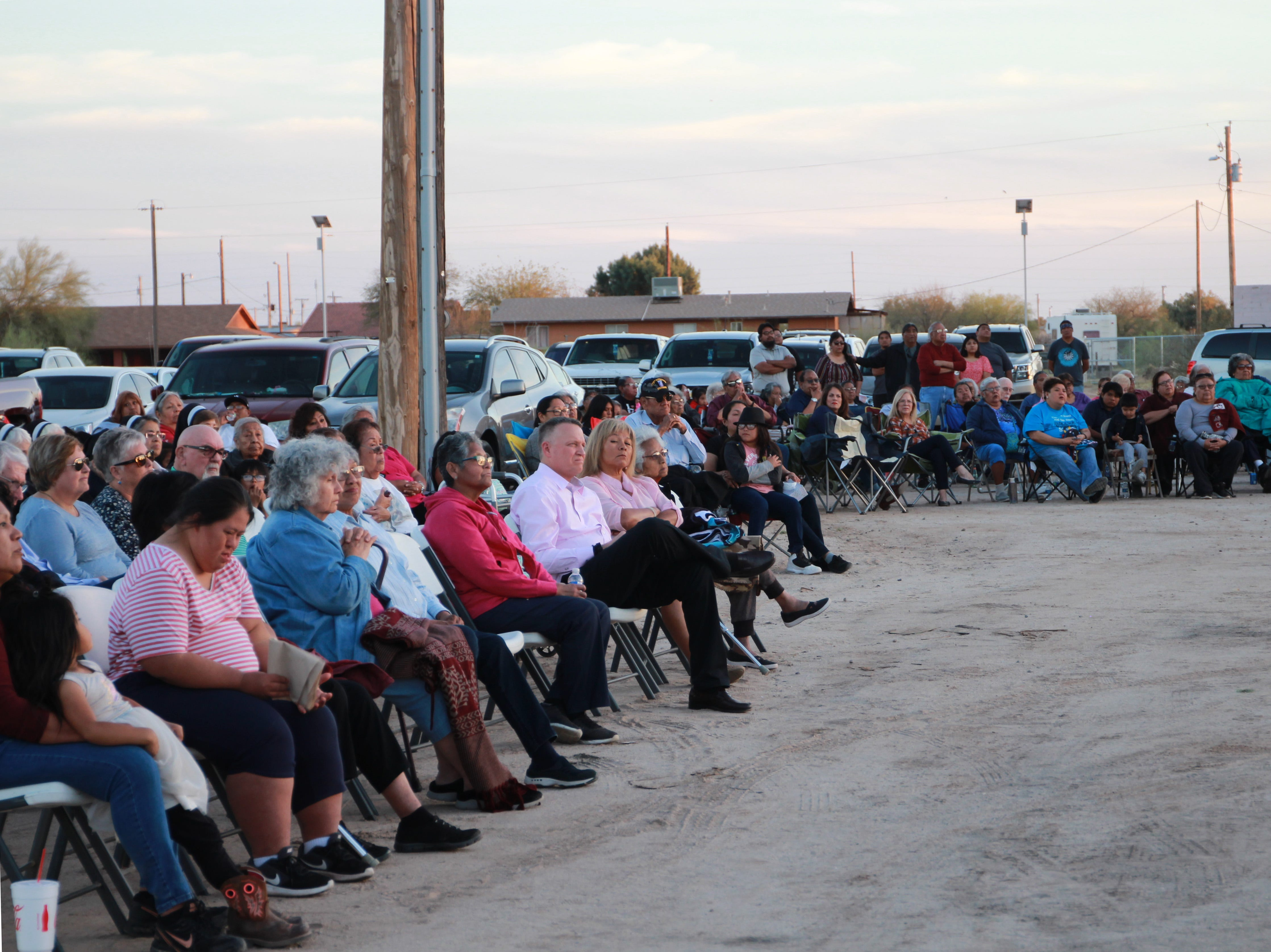 Hundreds of people from around the community came to show their support for the old church.