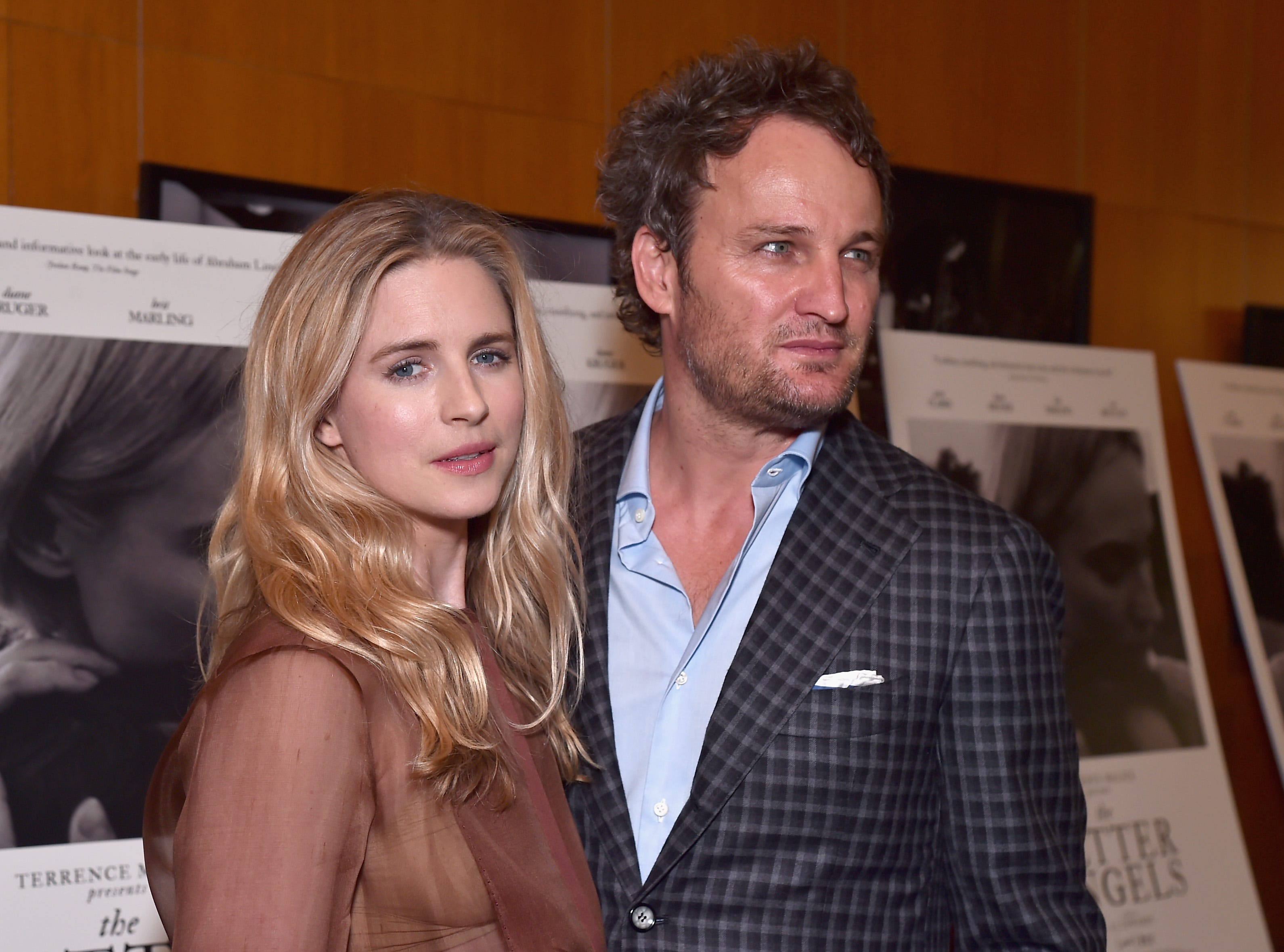 "Brit Marling and Jason Clarke attend the premiere of ""The Better Angels"" on Oct. 27, 2014, in Los Angeles."