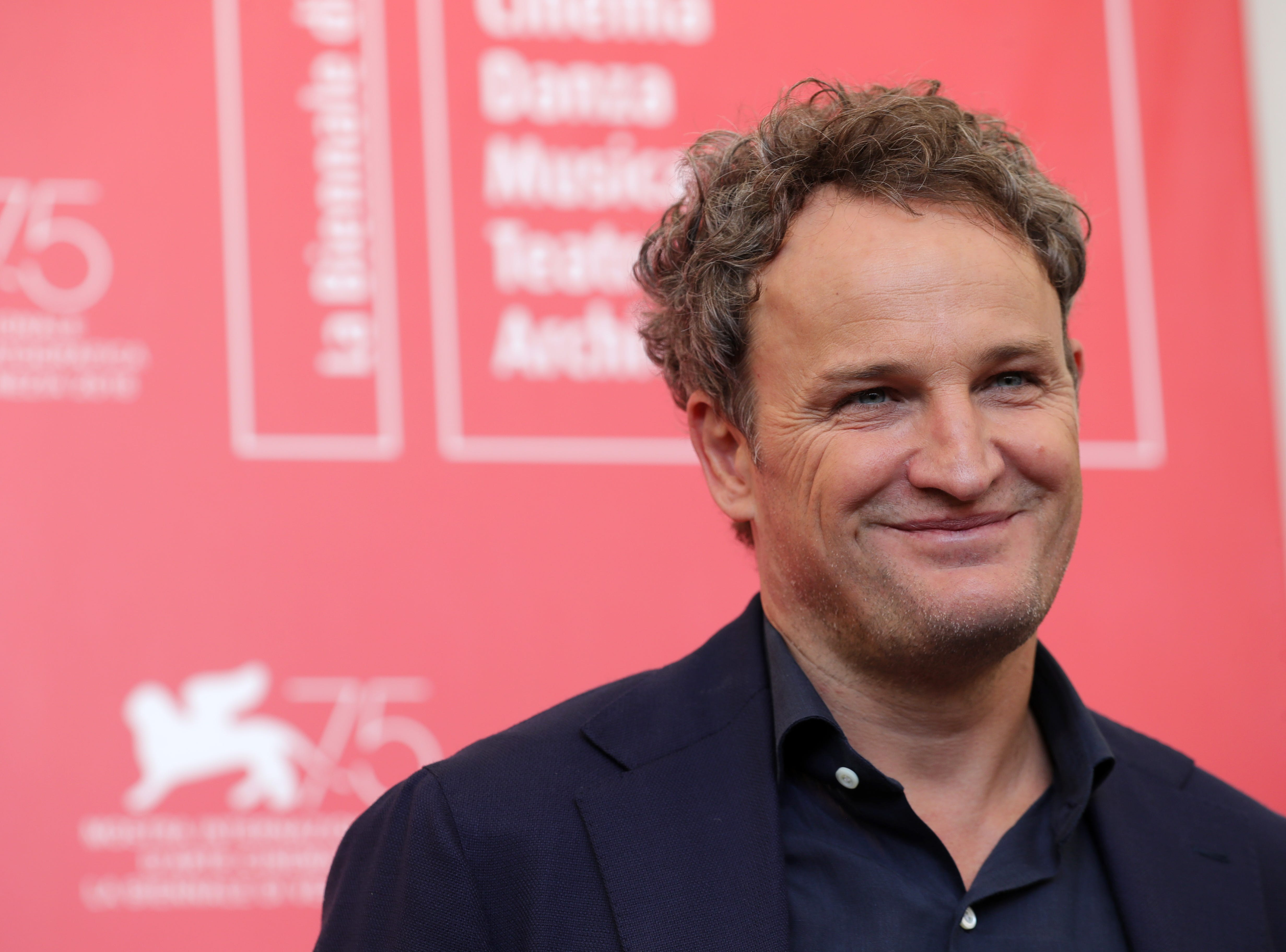 "Jason Clarke promotes ""First Man""  during the 75th Venice Film Festival on Aug. 29, 2018."