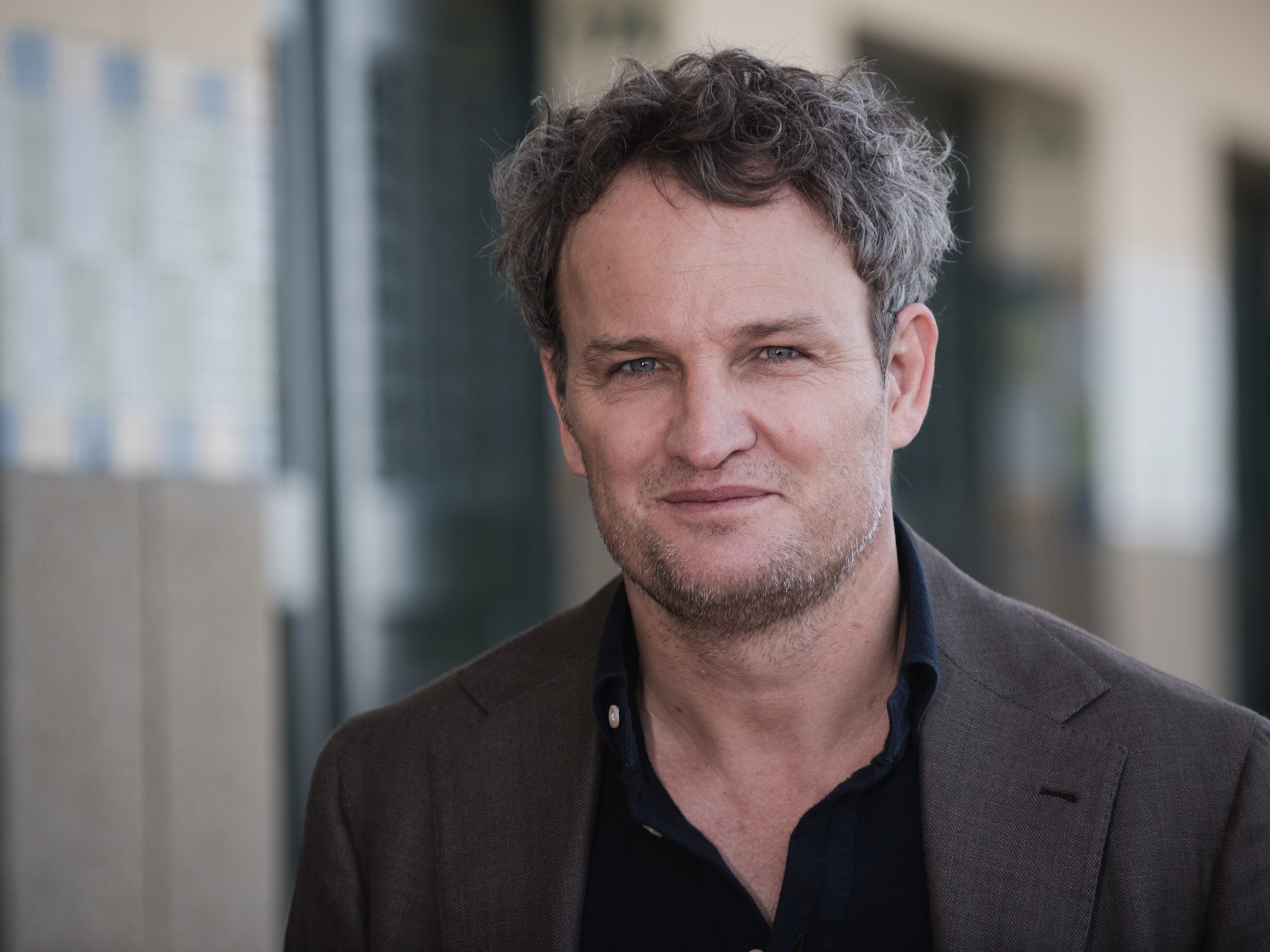 Jason Clarke poses during the unveiling of his dedicated beach locker room on the Promenade des Planches during the 44th Deauville US Film Festival  on Sept. 1, 2018 in Deauville, France.