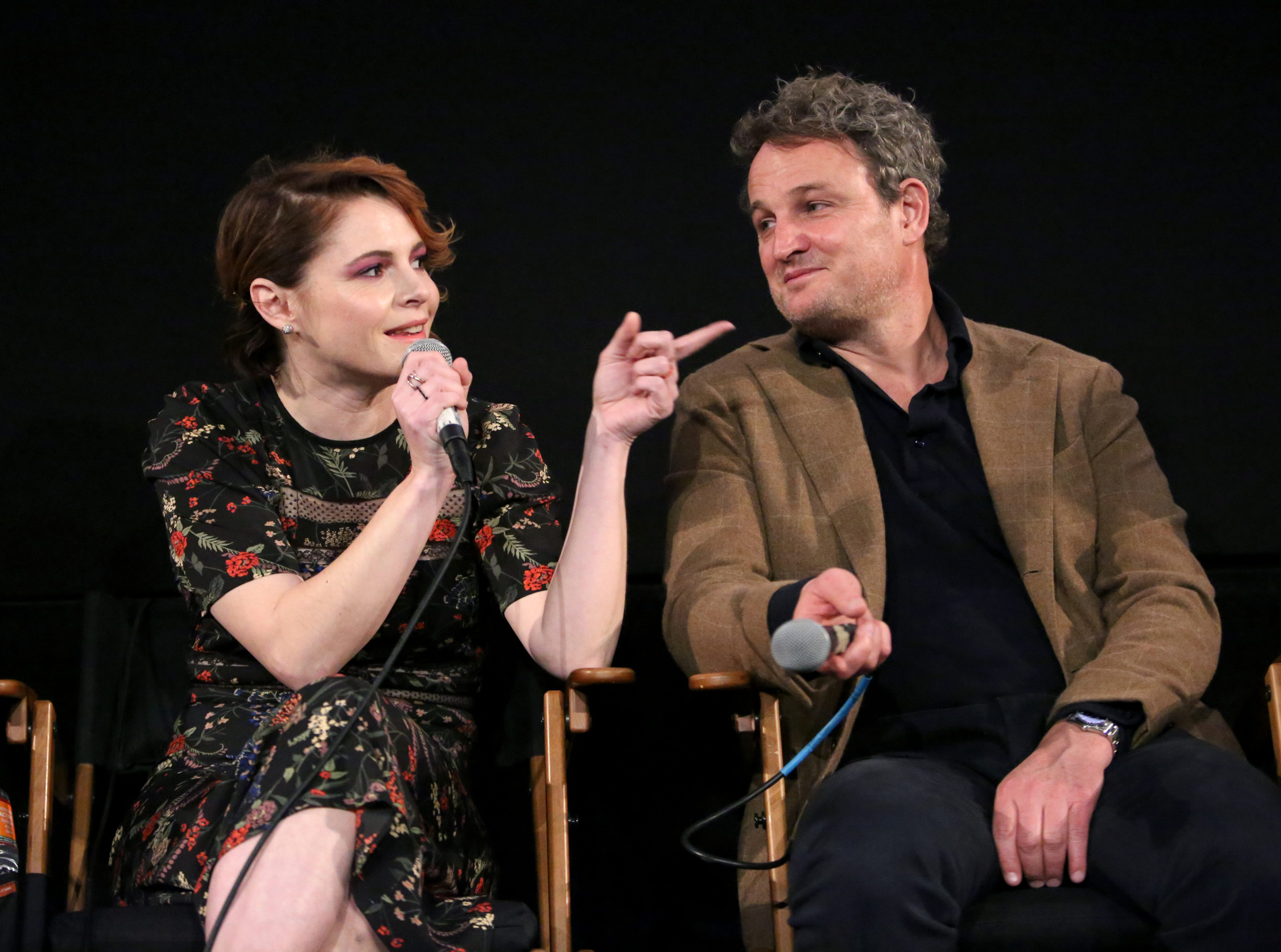 "Amy Seimetz and Jason Clarke attend a screening of ""Pet Sematary"" on March 28, 2019, in Los Angeles."
