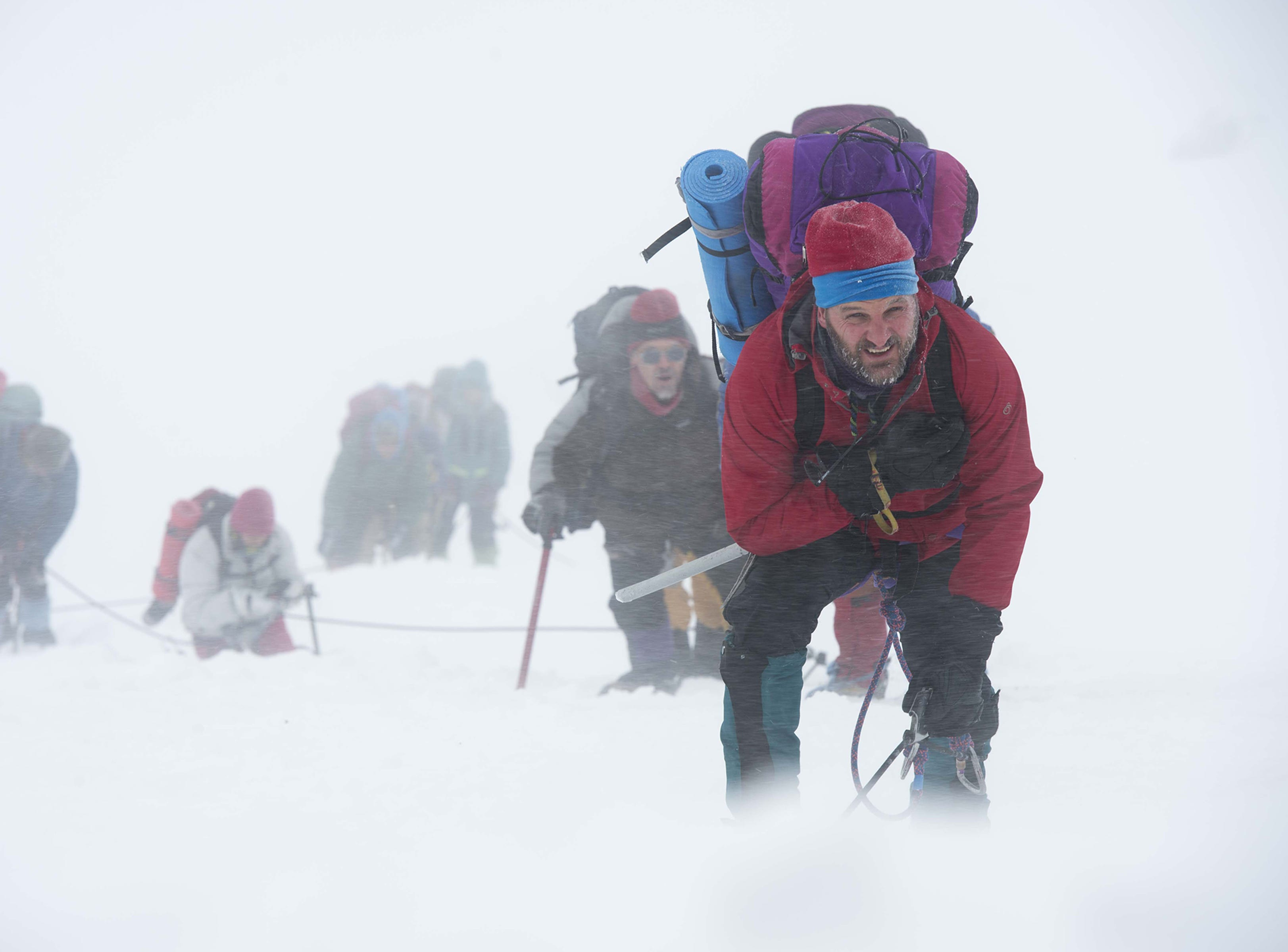 "Rob Hall (Jason Clarke) leads the  icy charge in ""Everest."" (2015)"