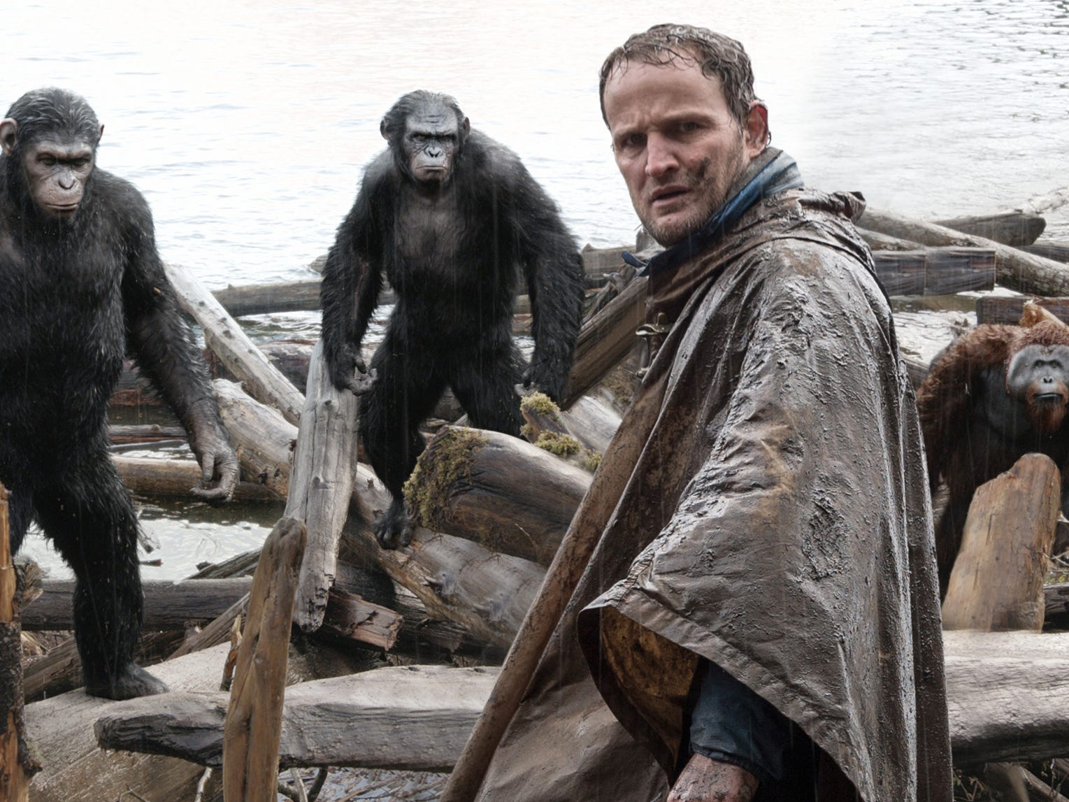 "Jason Clarke stars in ""Dawn of the Planet of the Apes.""  The film grossed more than $200 million in the United States."