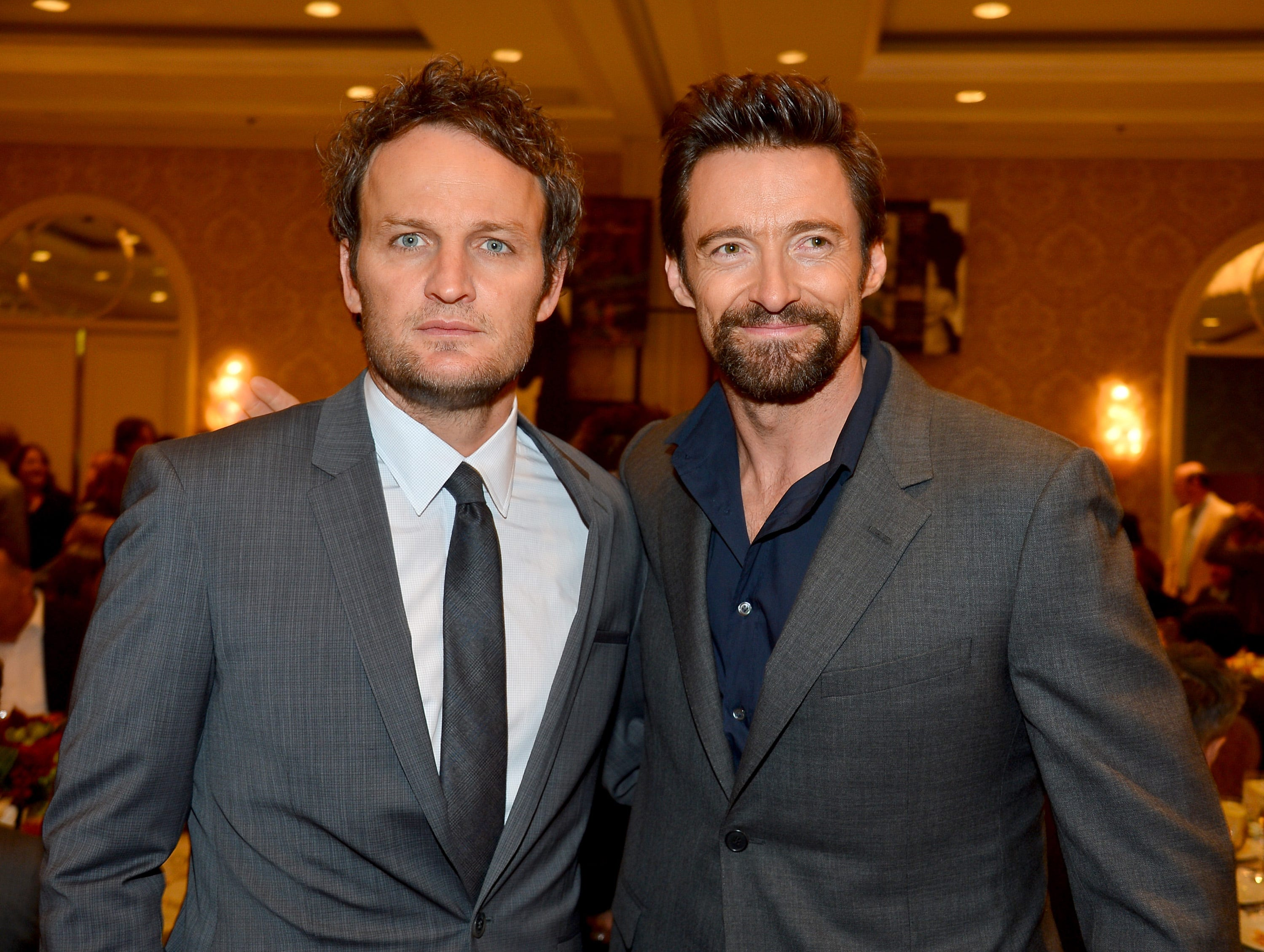 Starpower: Jason Clarke (left) and Hugh Jackman attend the 13th Annual AFI Awards on Jan, 11, 2013, in Beverly Hills, California.
