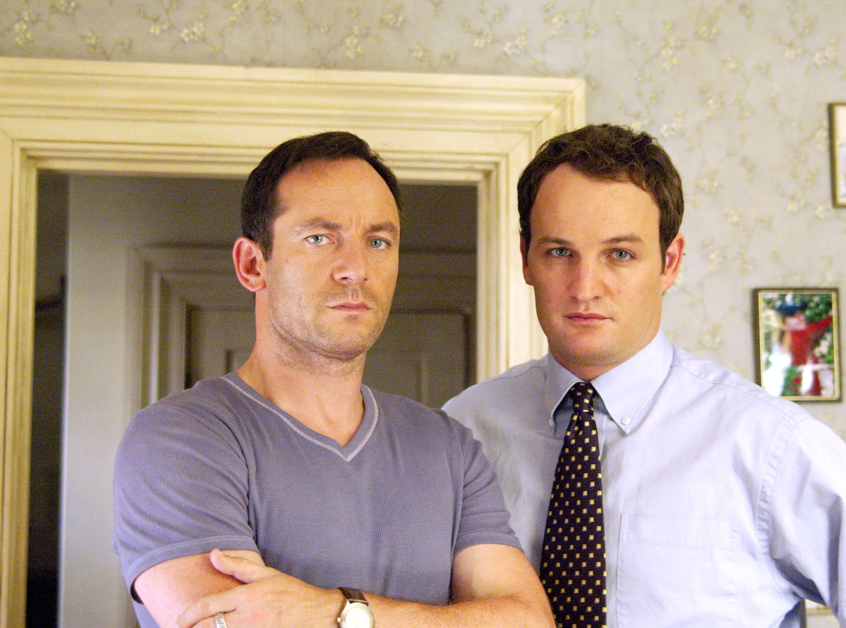 "A tale of two Jasons: Jason Isaacs (left) and Jason Clarke star in ""The Brotherhood."""