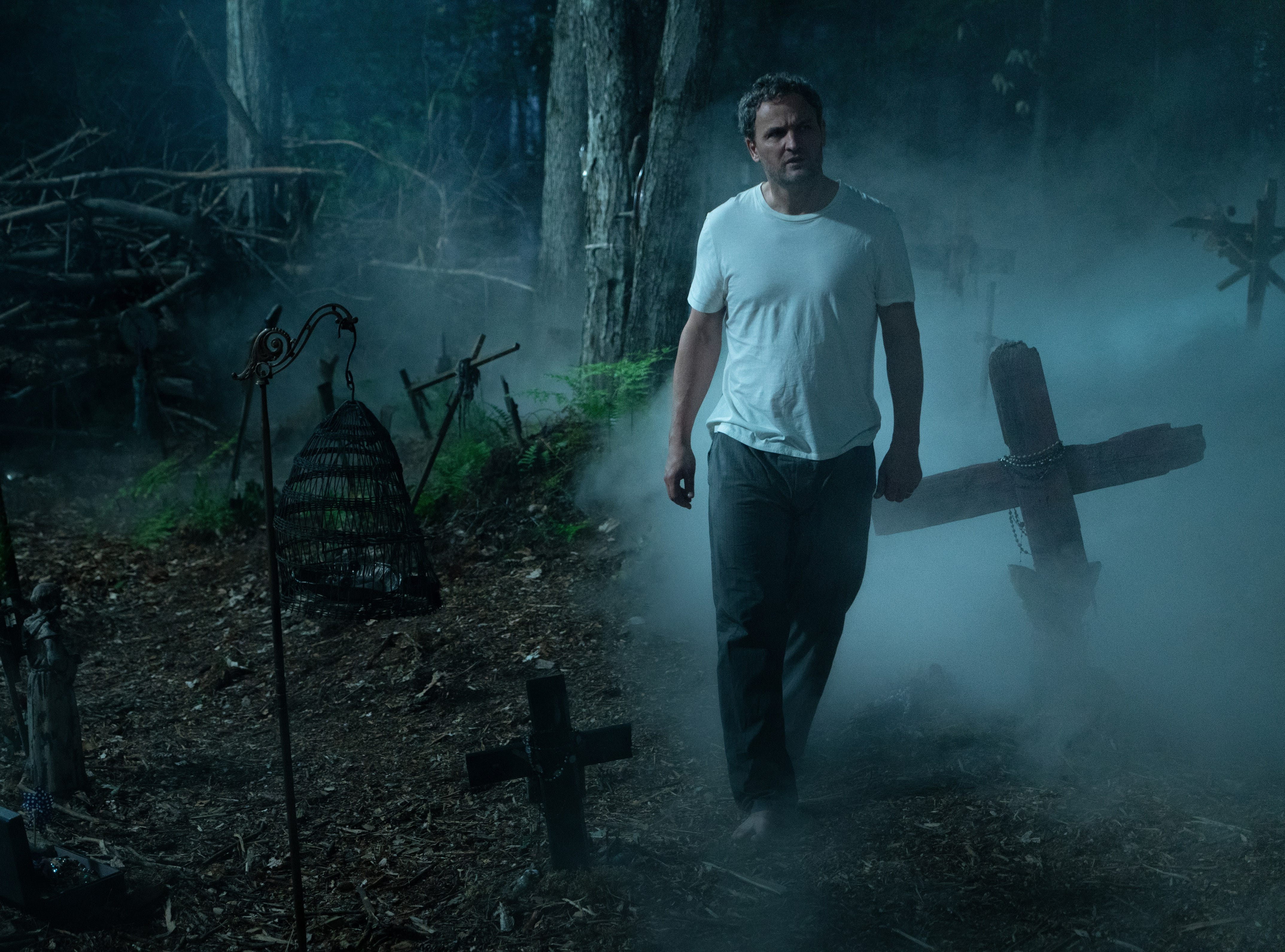 "Louis (Jason Clarke) delves deeper into the mystery in ""Pet Sematary."""