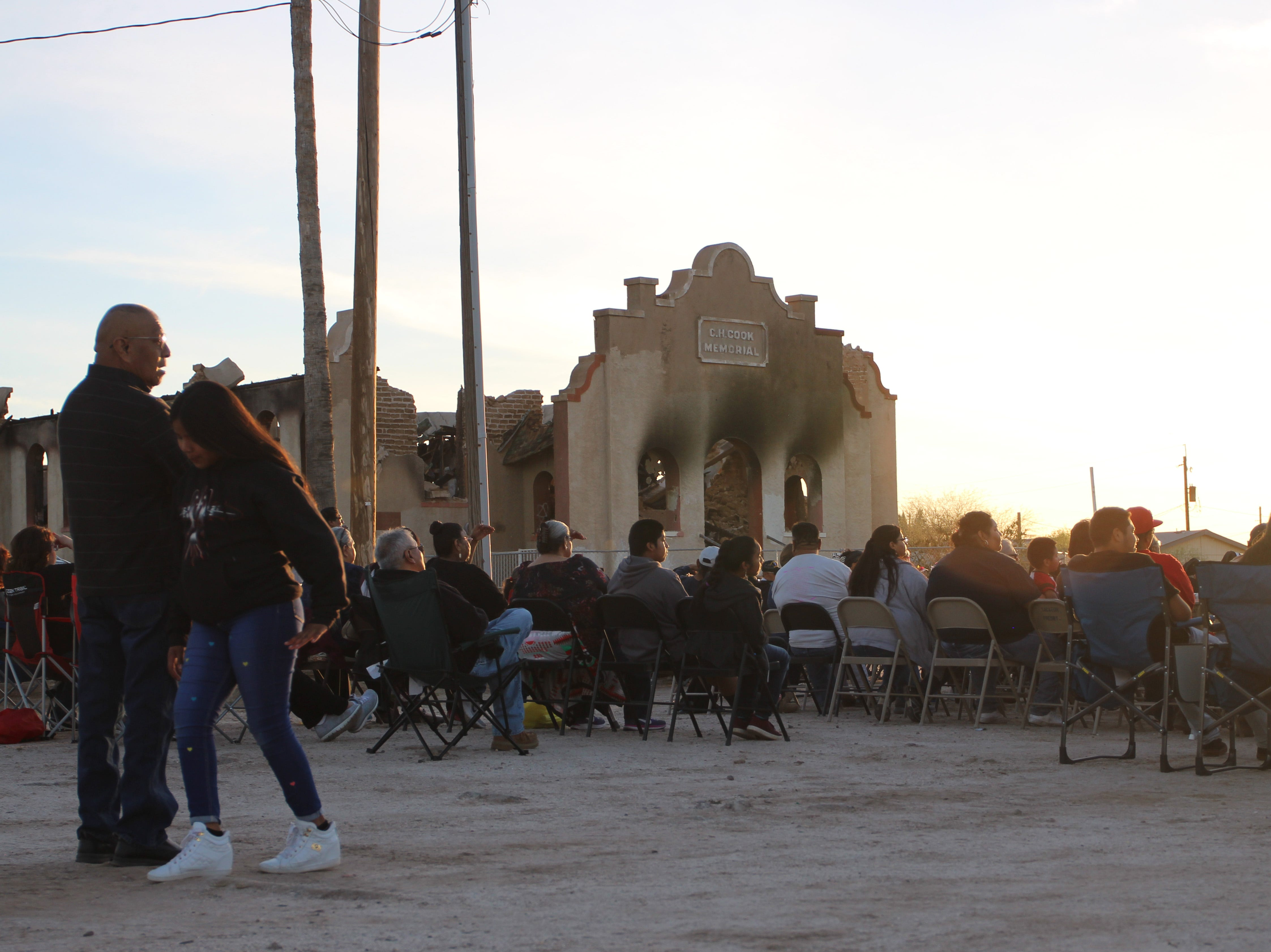 The prayer vigil helped community members remember the church and the memories it brought them.