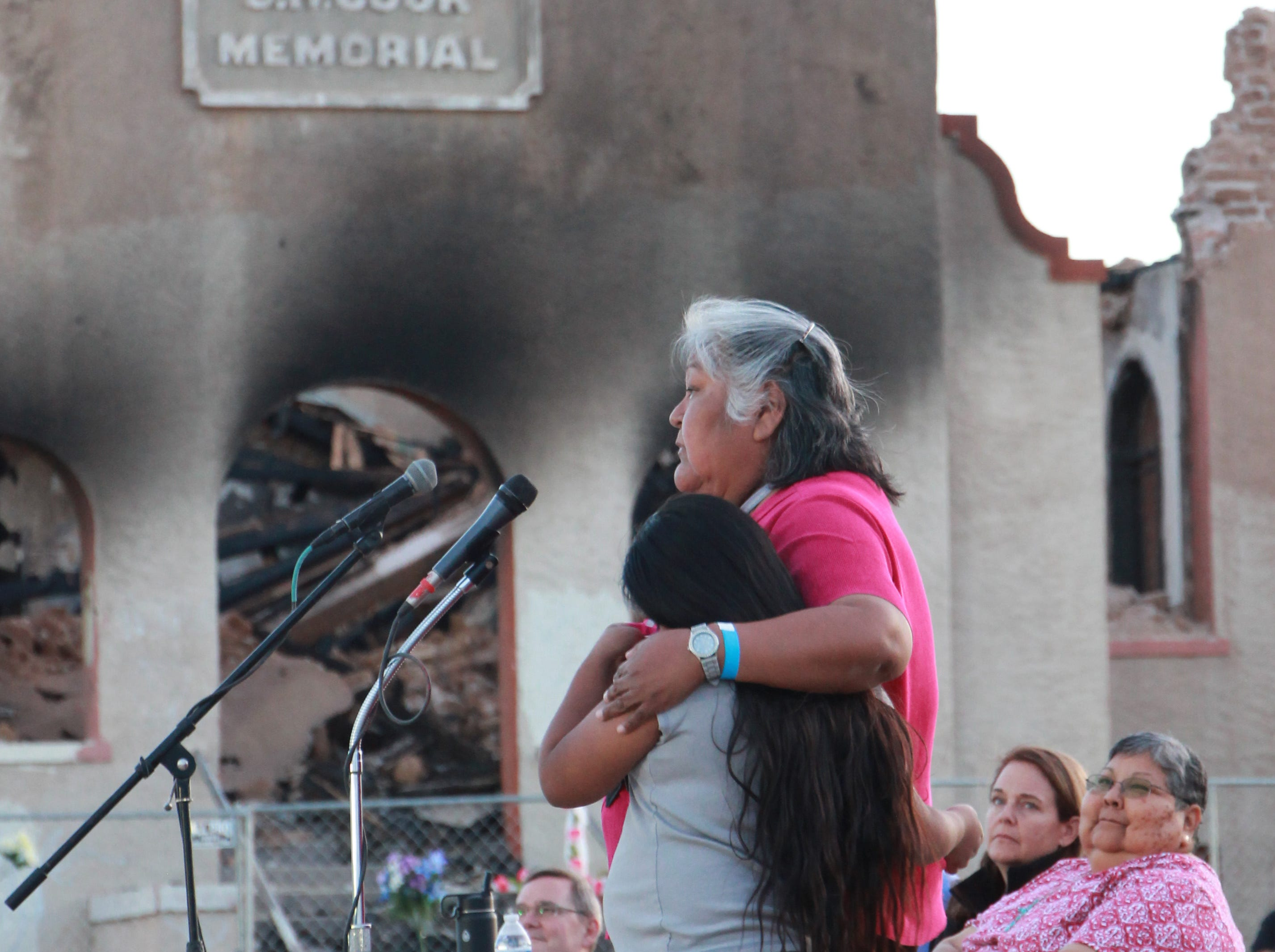 A member of the community spoke upon the memories she shared with the old church.
