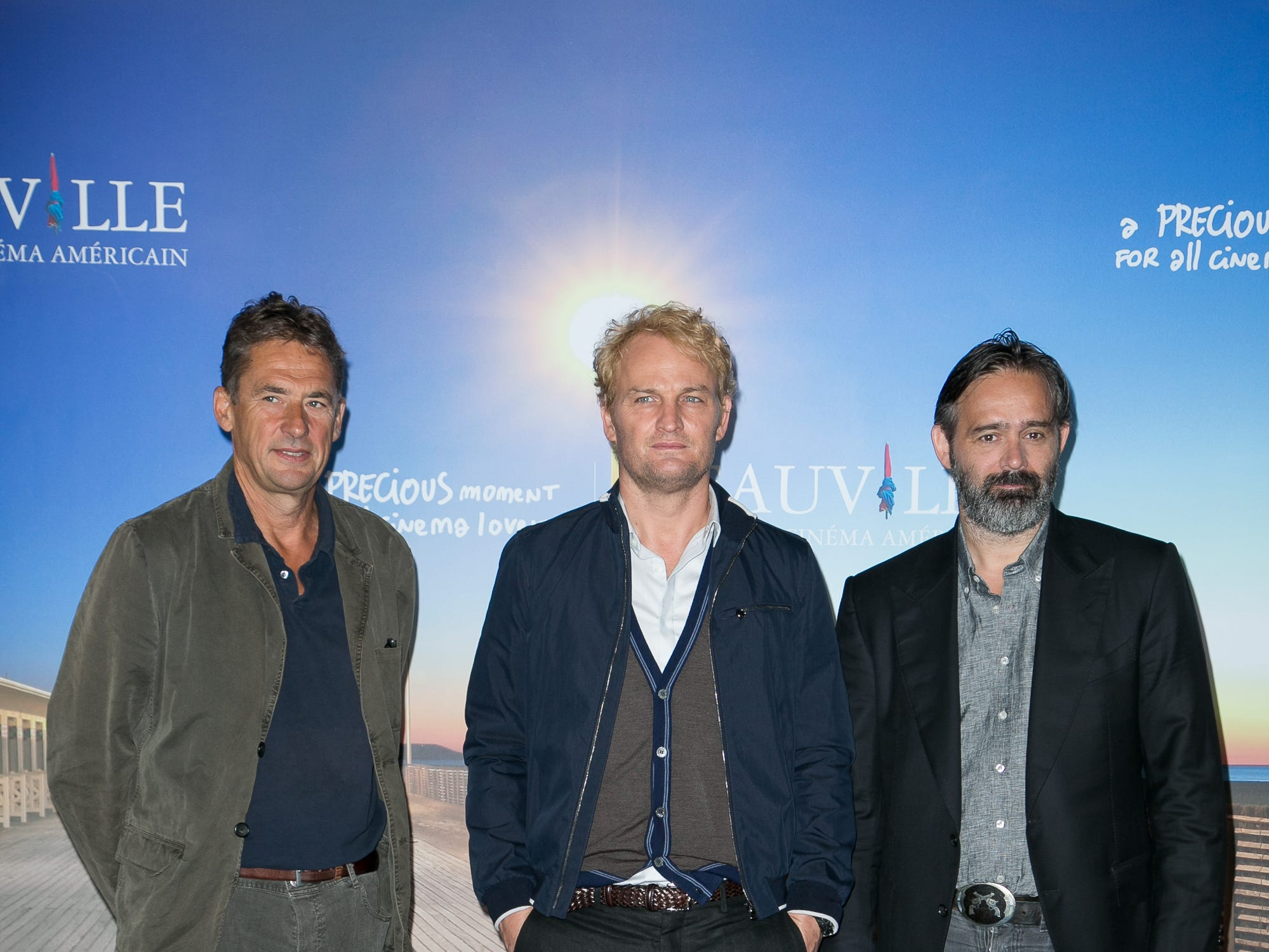 "Producer Tim Bevan (from left), star  Jason Clarke and director Baltasar Kormakur attend the ""Everest"" photocall during the 41st Deauville American Film Festival on Sept. 5, 2015, in Deauville, France."