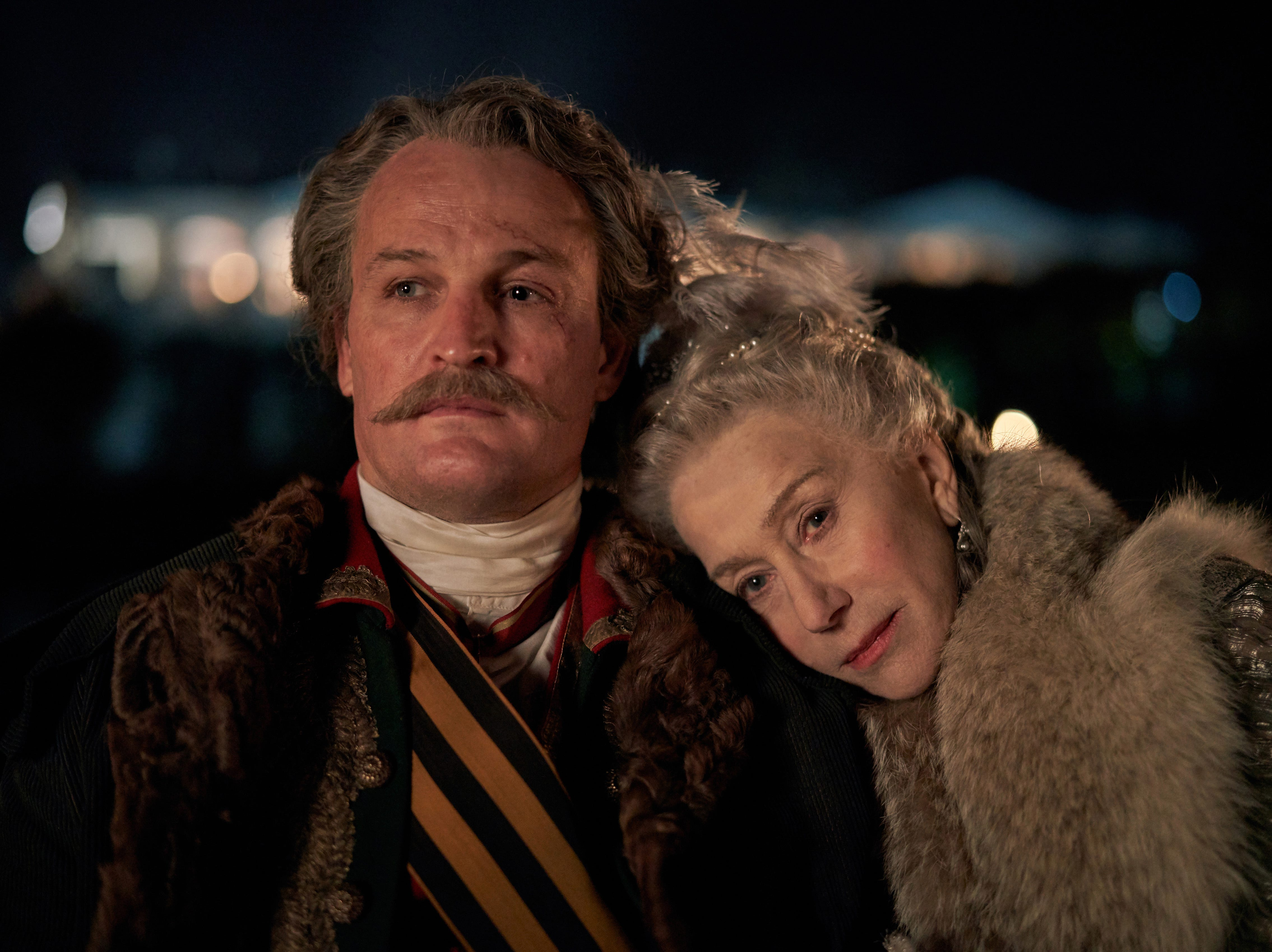 "Jason Clarke and Helen Mirren star in HBO's upcoming ""Catherine the Great."""