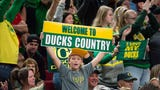 Hear from the Oregon Ducks women's basketball team head coach and players following their Elite Eight win over Mississippi State to advance to the Final Four.