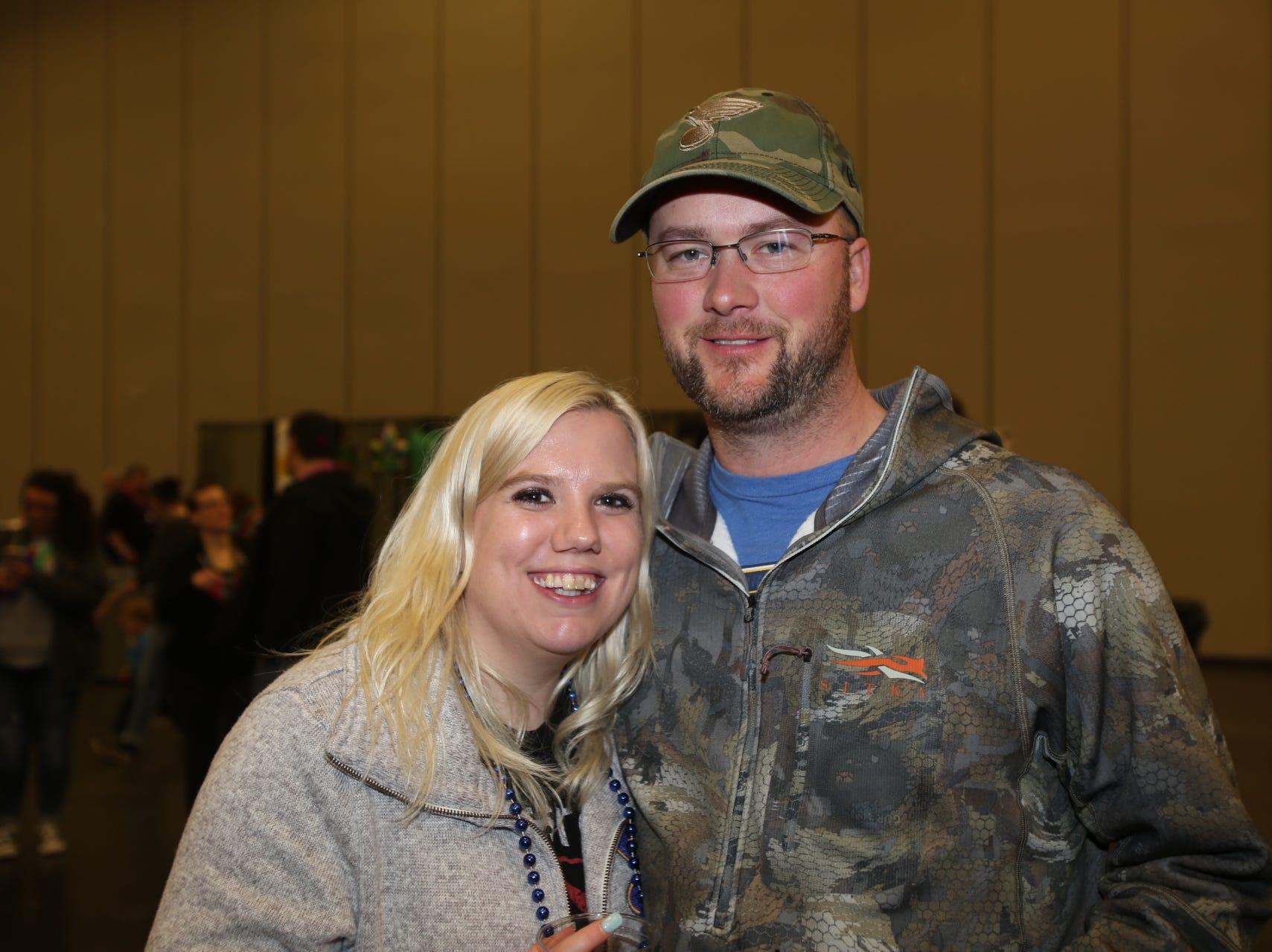 Bridget Riley and Chris Hall