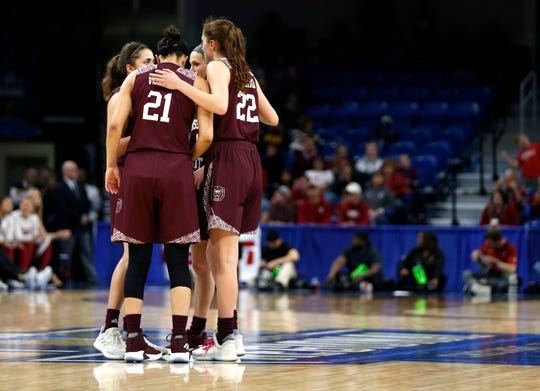 The Missouri State Lady Bears take on the Stanford Cardinal during the NCAA Division I Women's Regional at Wintrust Arena in Chicago, Ill. on Saturday, March 30, 2019.